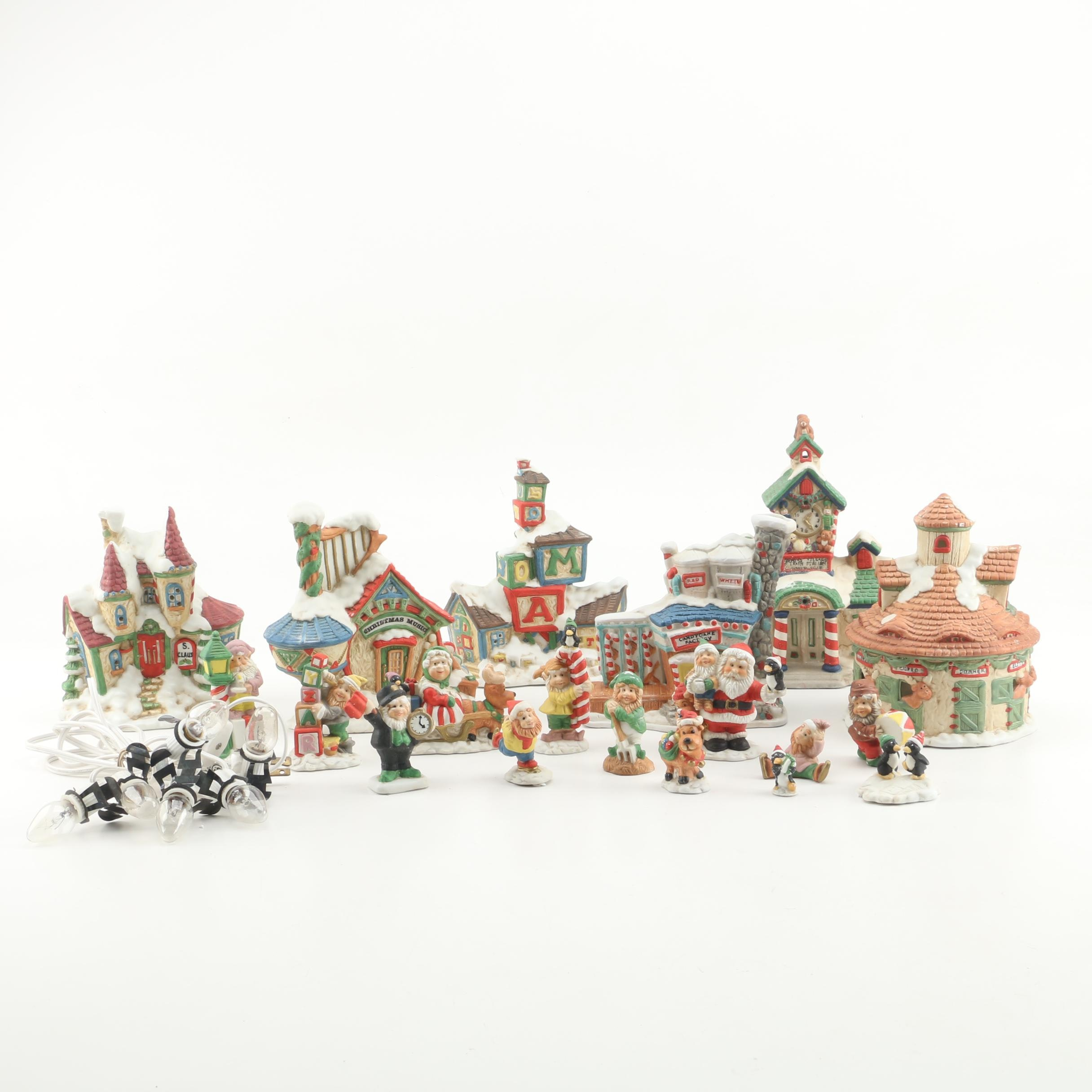 1990s Mercuries Christmas Village and Figurines