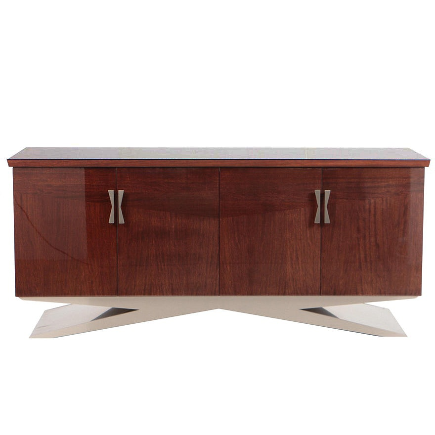 Excelsior Designs Rosewood and Steel Credenza