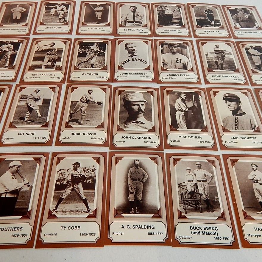 1974 Rg Laughlin Pioneers Of Baseball Card Set