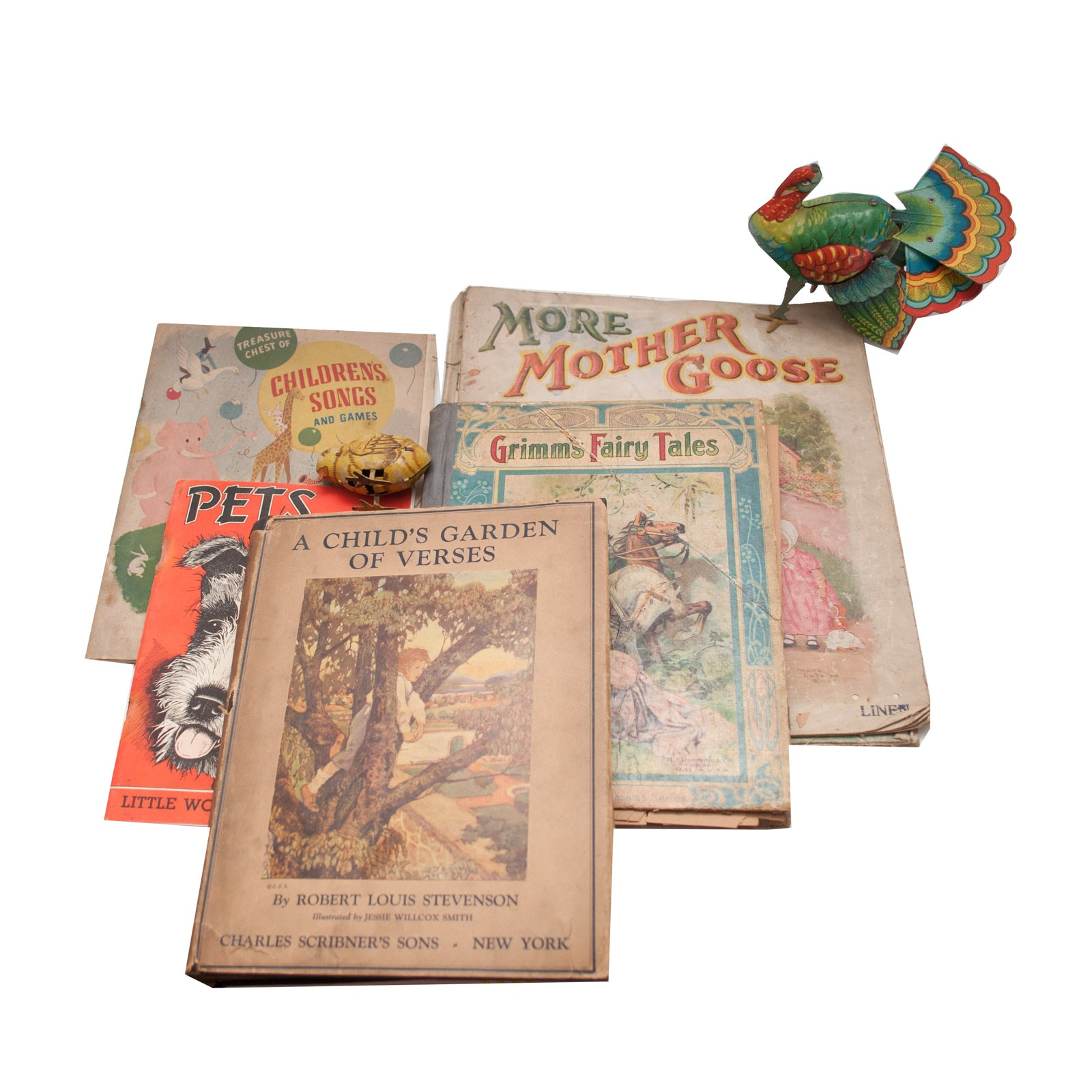 Vintage Children's Books and Tin Toys