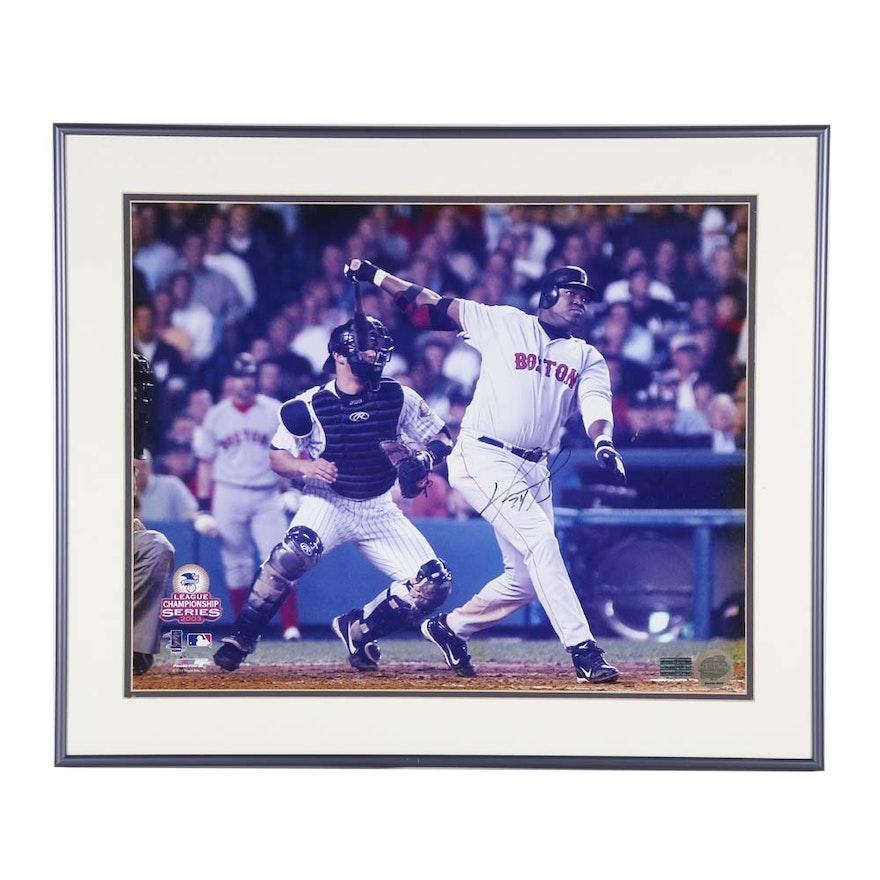 314133f6941 Autographed David Ortiz Photograph with Sport Treasures COA   EBTH