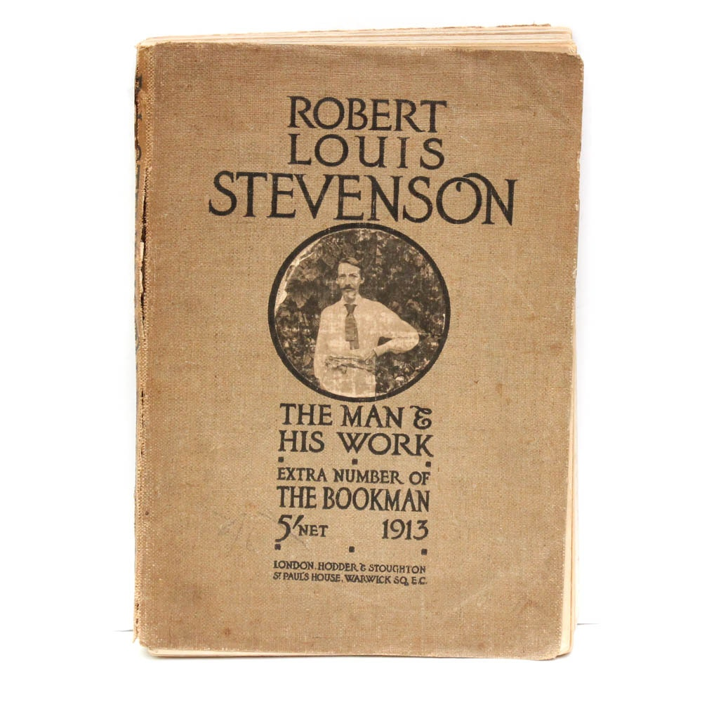 """1913 """"Robert Louis Stevenson: The Man & His Work"""" Extra Number of The Bookman"""