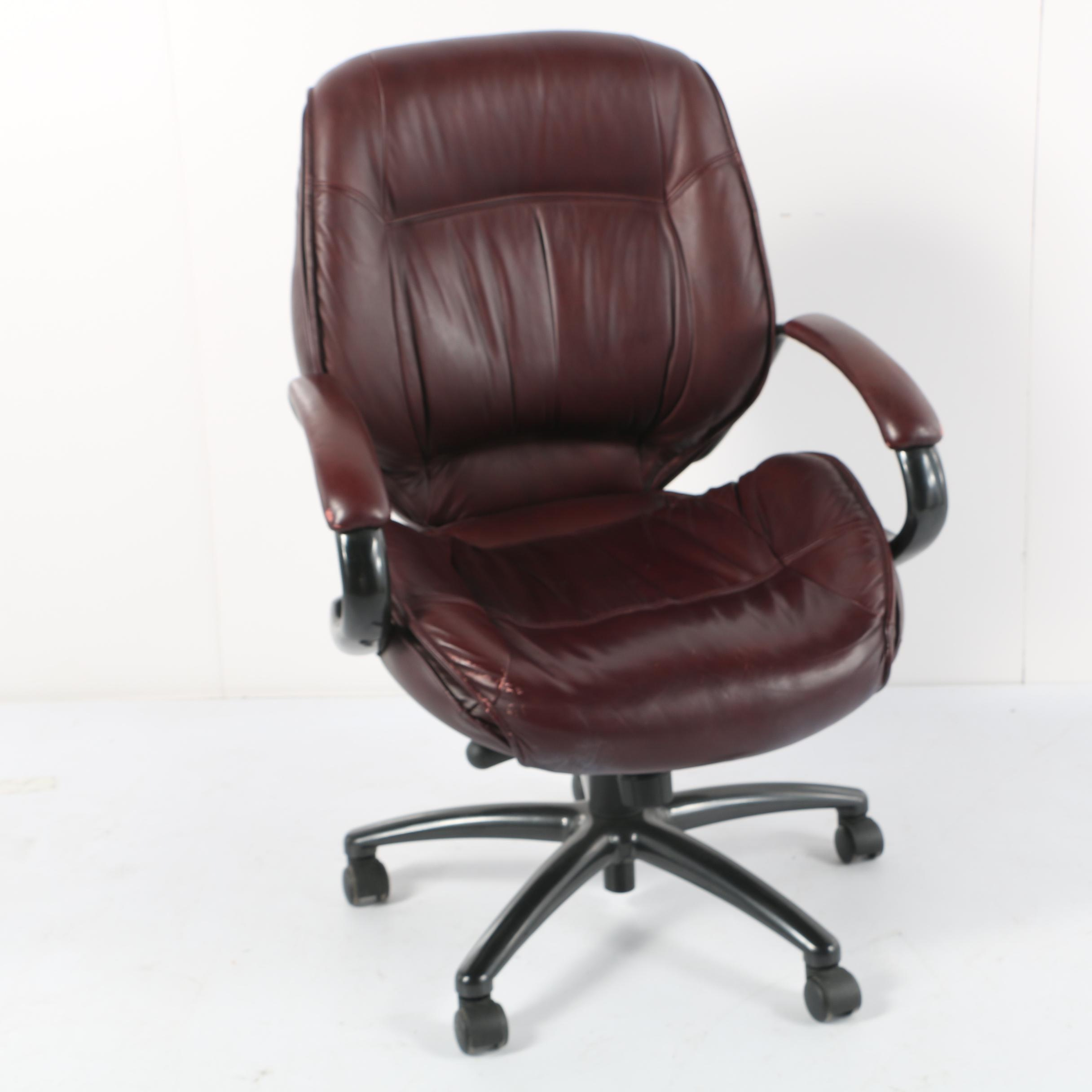 Burgundy Leather Executive Desk Chair by Lane