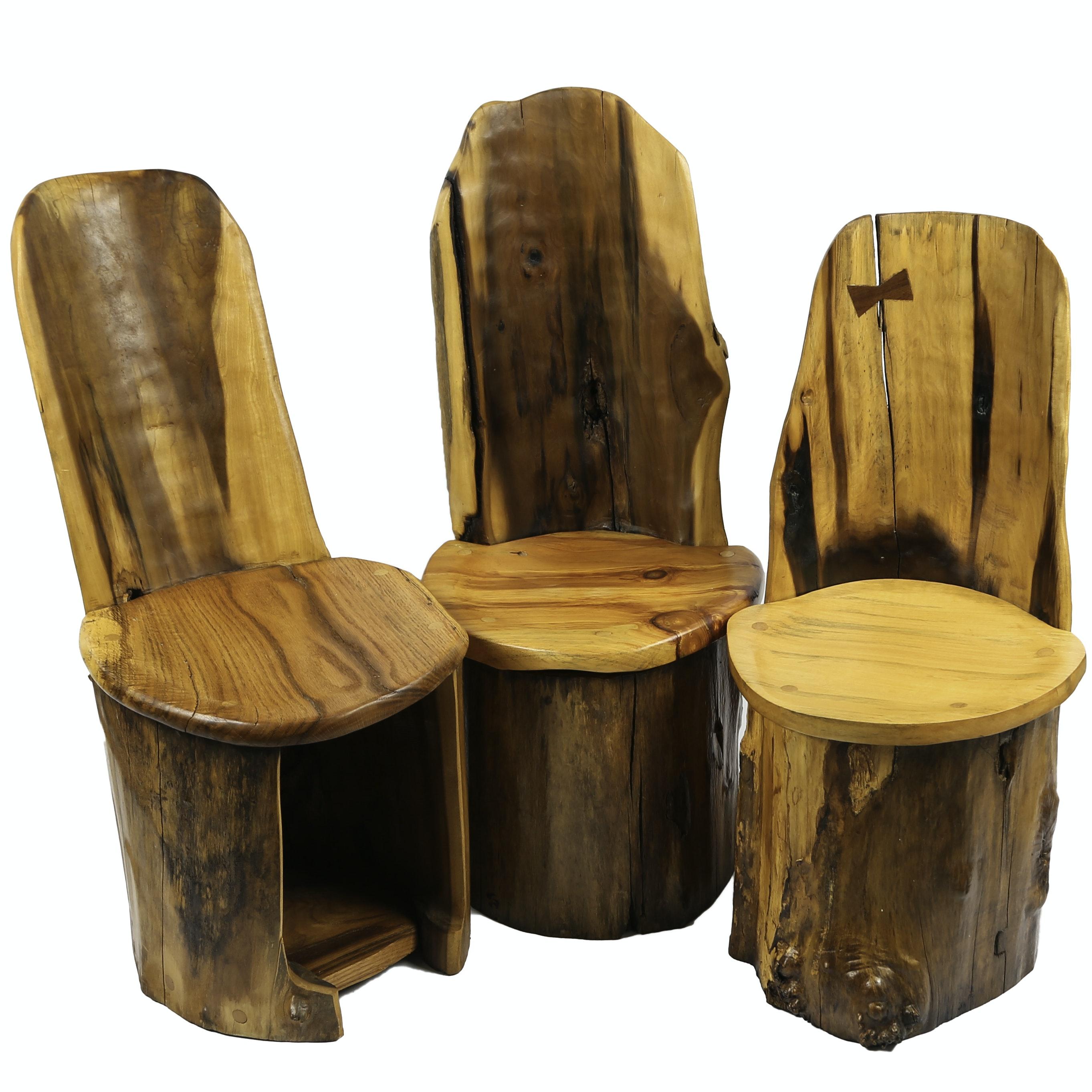Beau Tom Sternal Handcrafted Folk Art Childrenu0027s Log Chairs ...