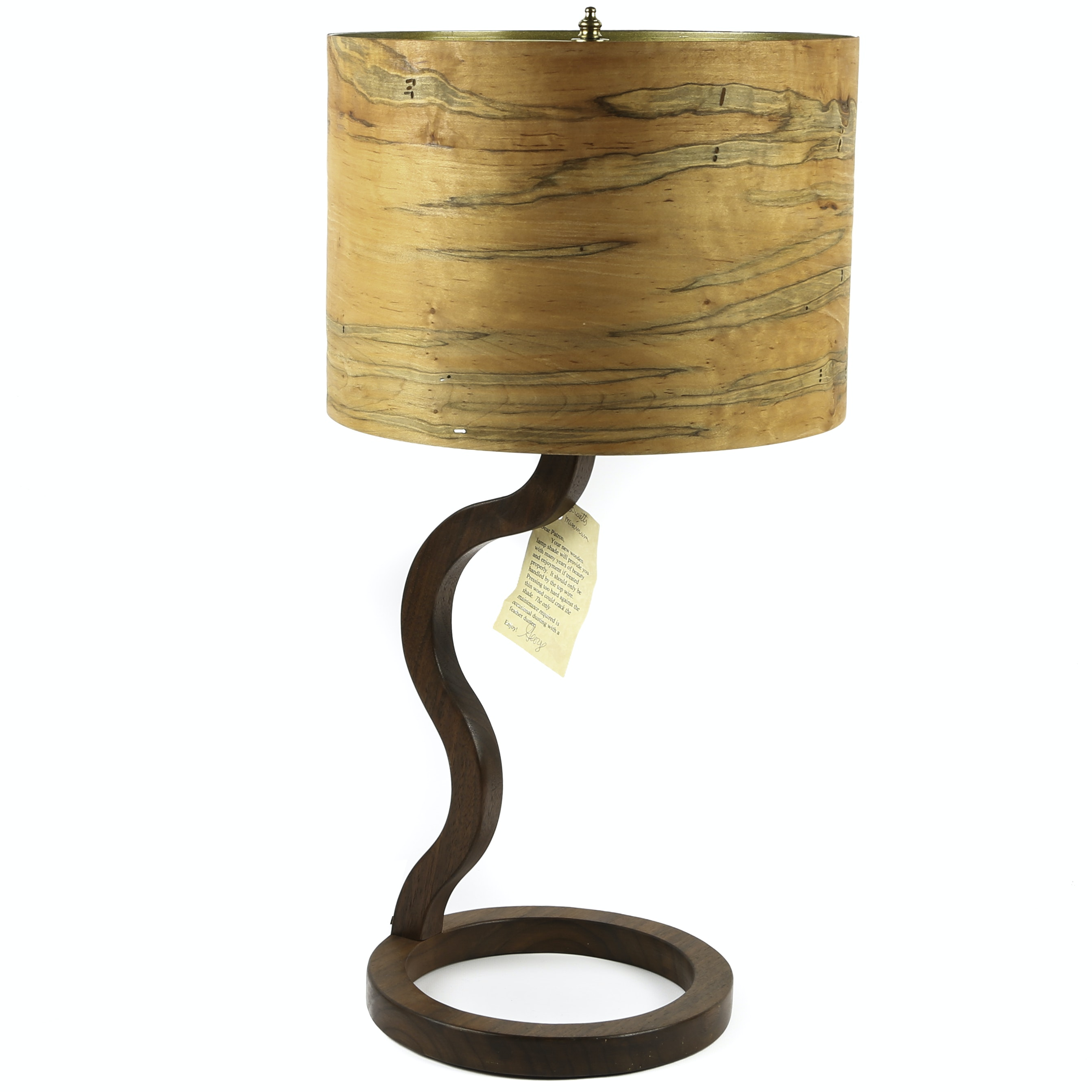 George Biersdorf Handcrafted Walnut Table Lamp