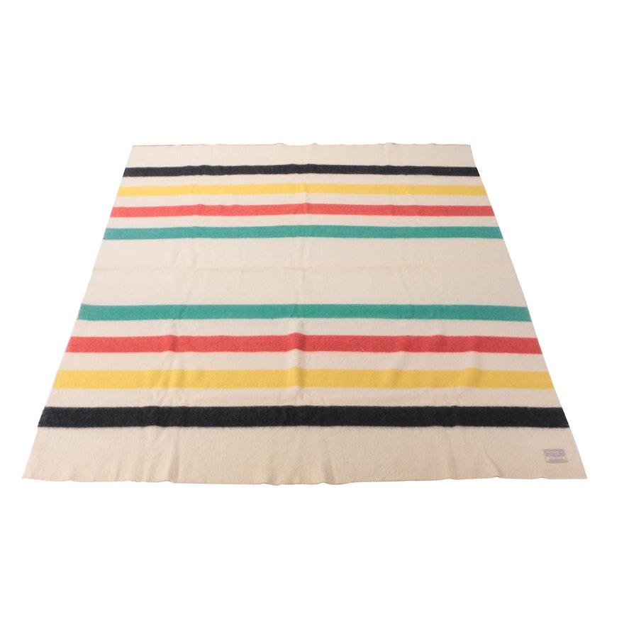 Vintage Polar Star Striped Virgin Wool Blanket