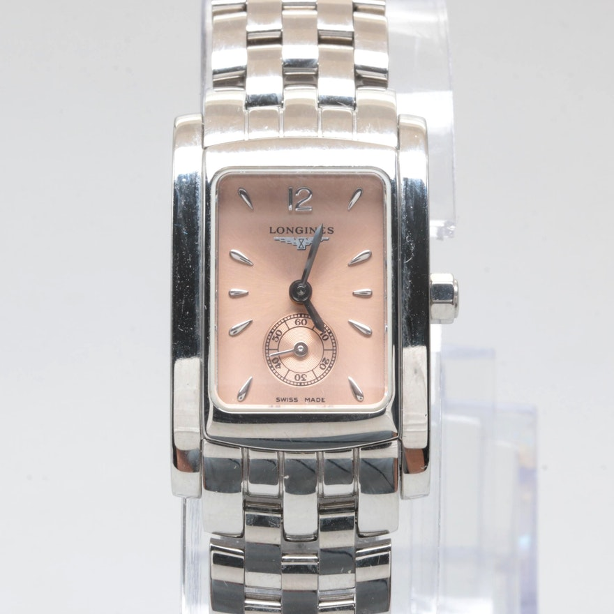 14e1af4de452 Longines Stainless Steel Wristwatch with Box   EBTH