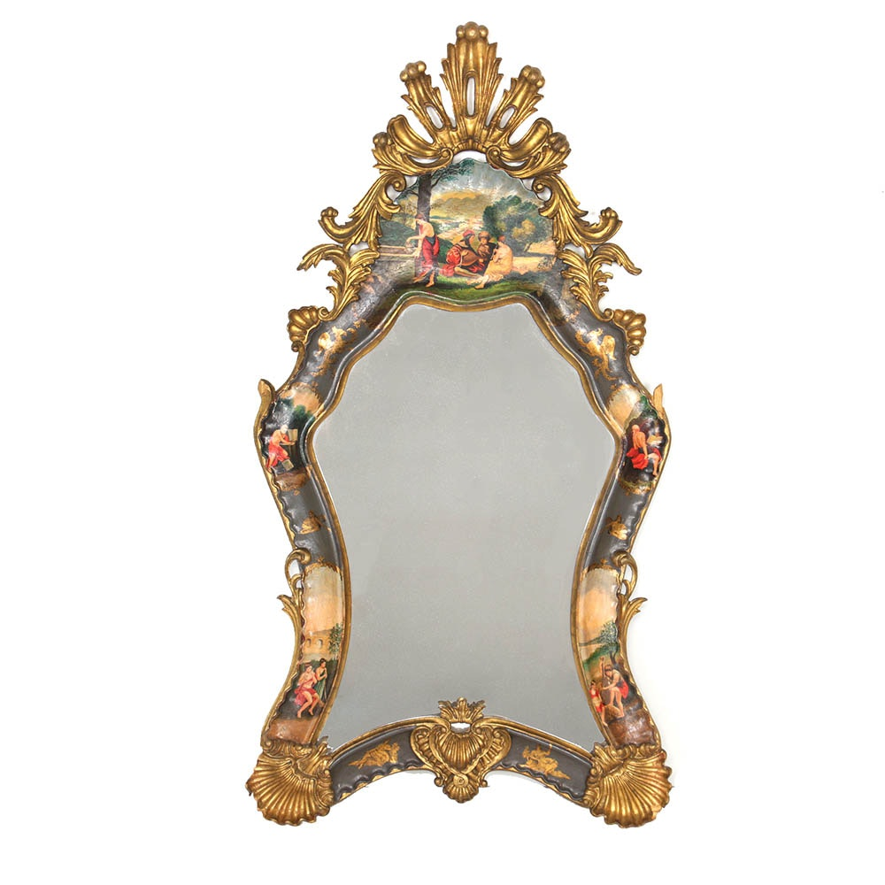 Louis XIV Style Pictorial Wall Mirror