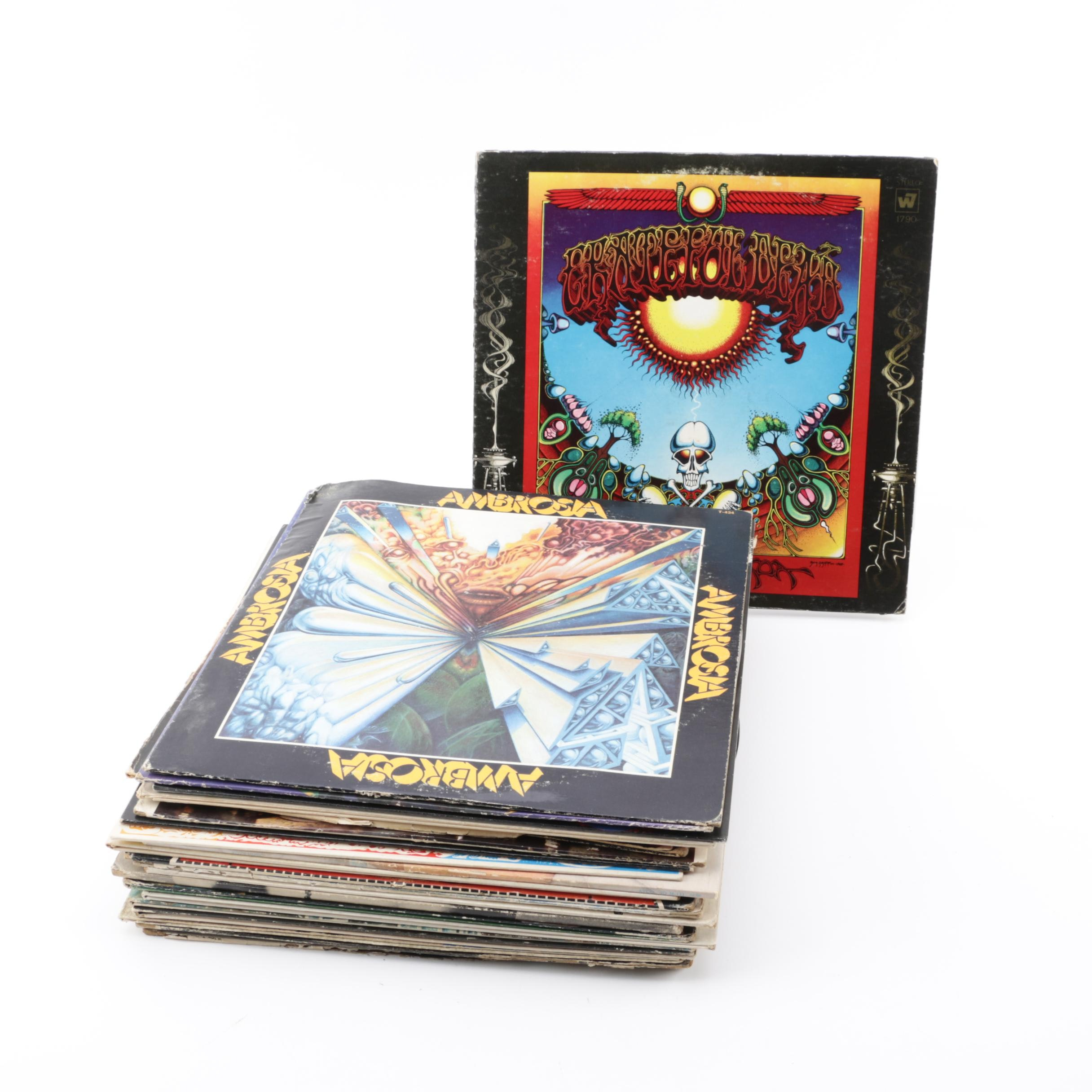 Vintage Psychedelic Rock and Folk Vinyl Records Including Grateful Dead