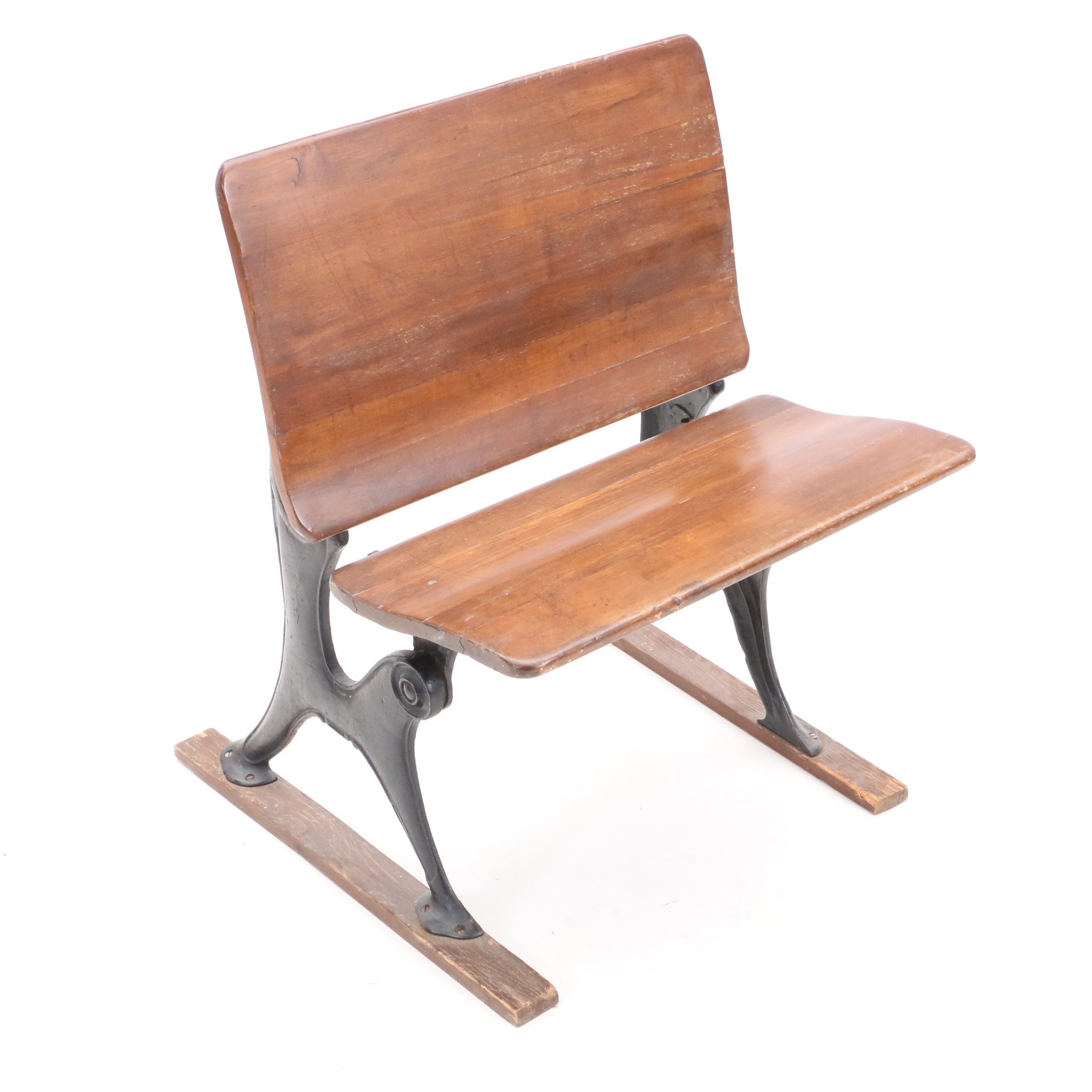 School chair back Creative School Vintage School Chair Ebth