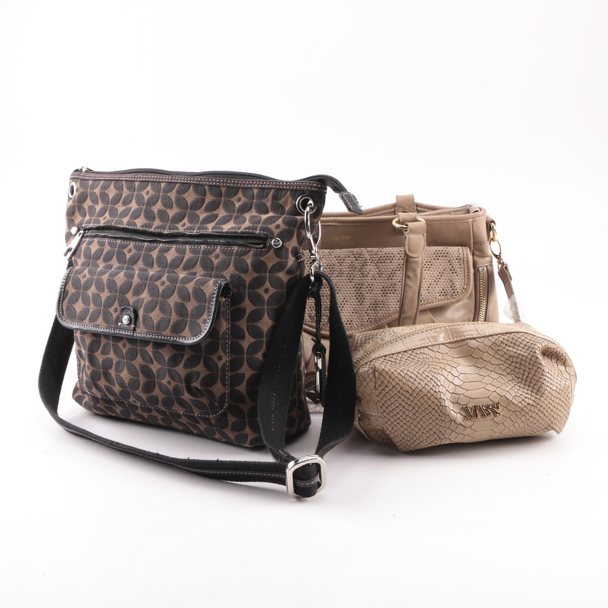 Gianni Bini And Fossil Handbags With Massi Cosmetic Bag