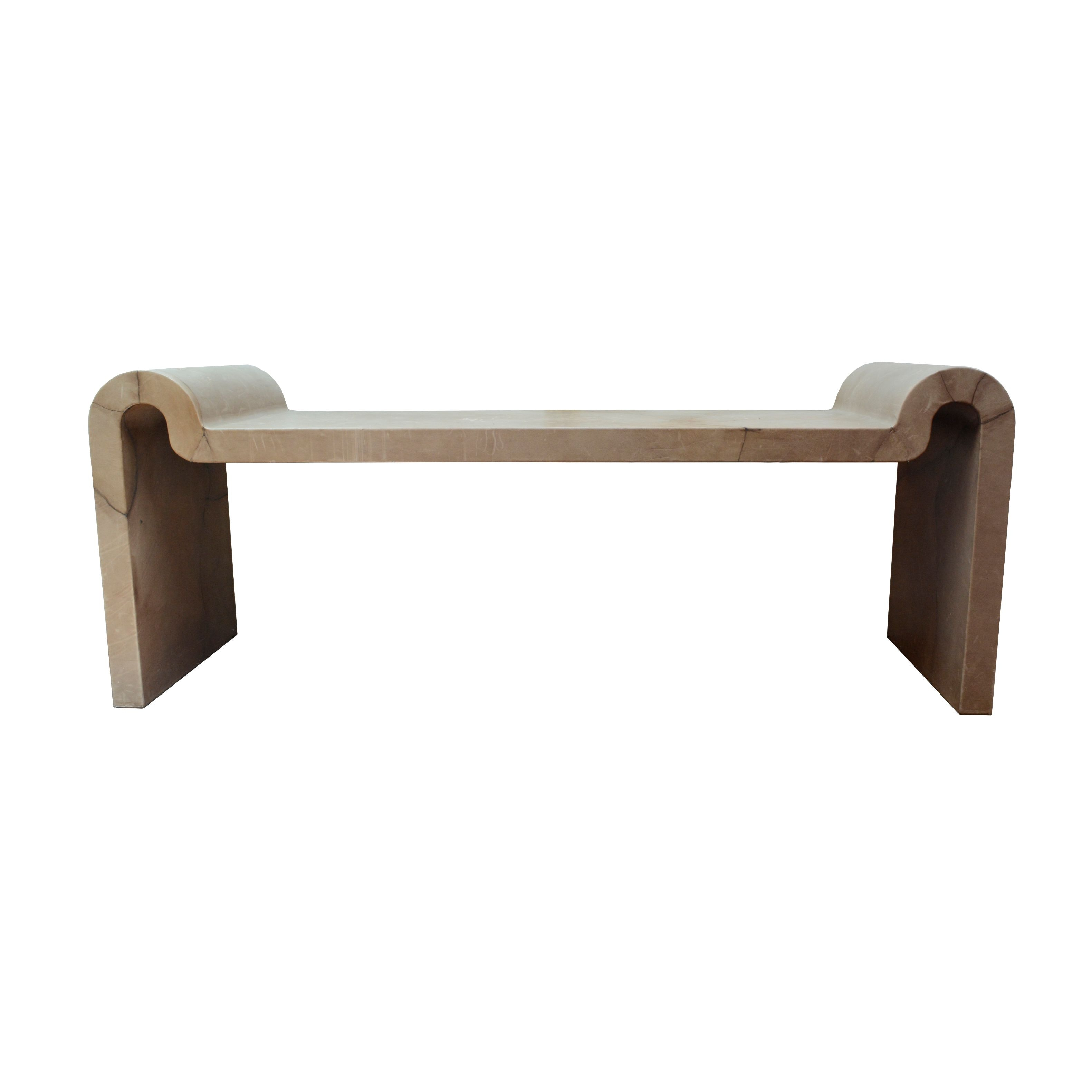 Leather Covered Modern Style Bench