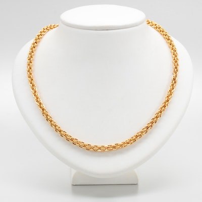 UnoAErre 14K Yellow Gold Fancy Link Necklace