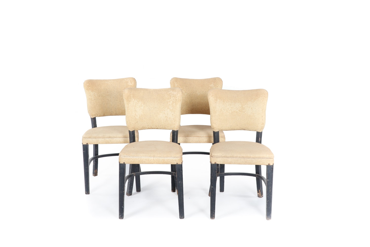 Vintage Vinyl Upholstered Dining Chairs