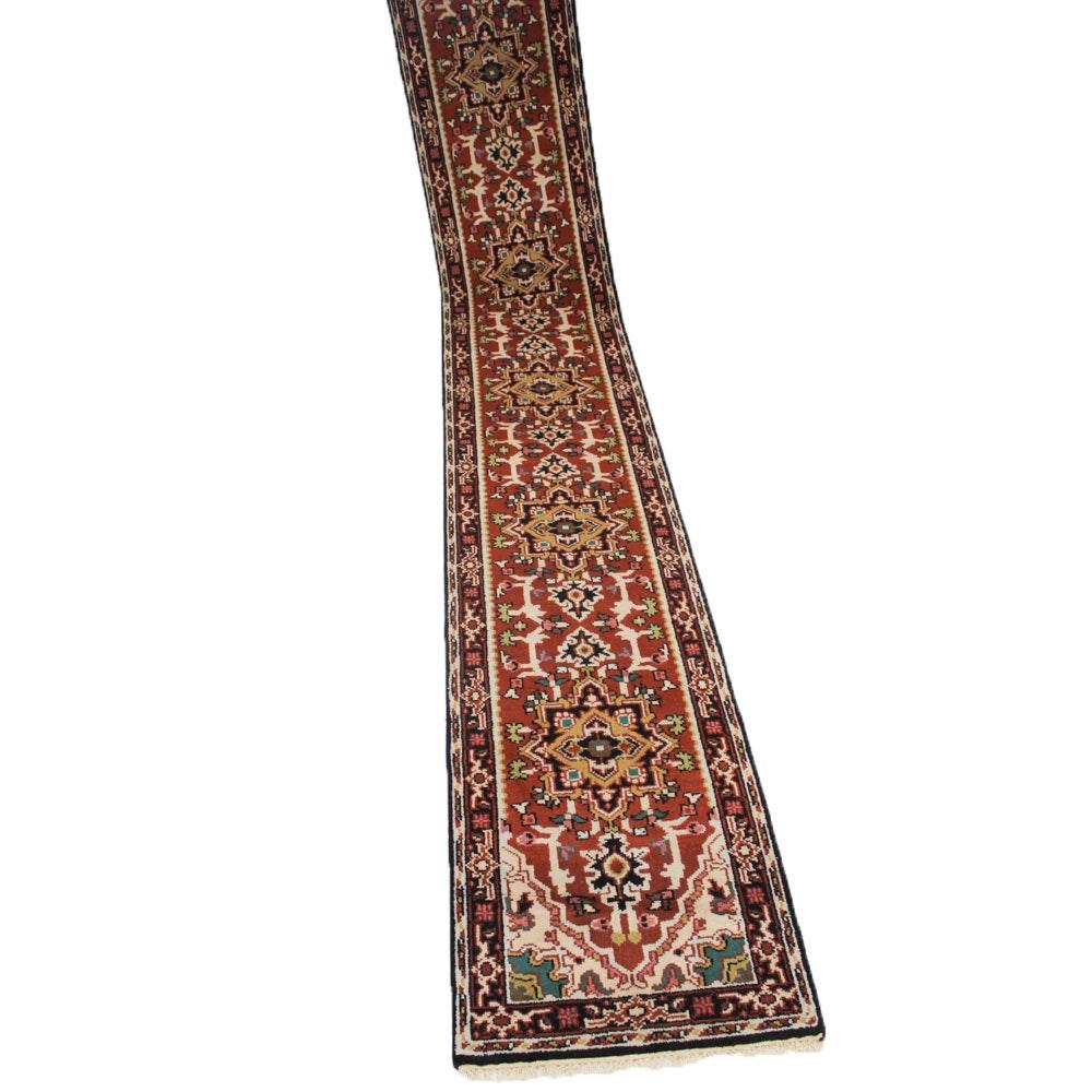 2'6 x 16'3 Hand-Knotted Indo-Persian Heriz Serapi Runner