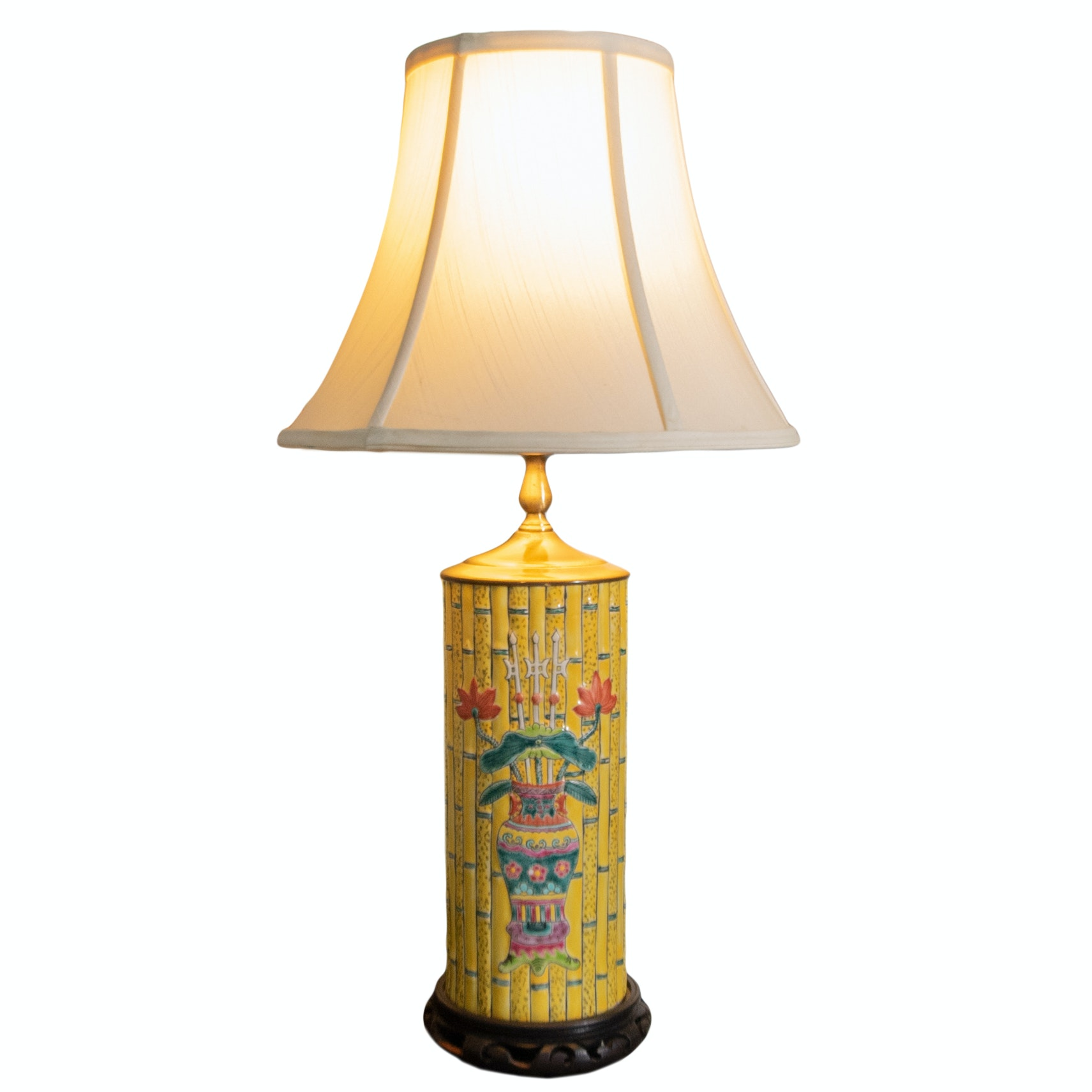 Vintage Chinese Ceramic Table Lamp