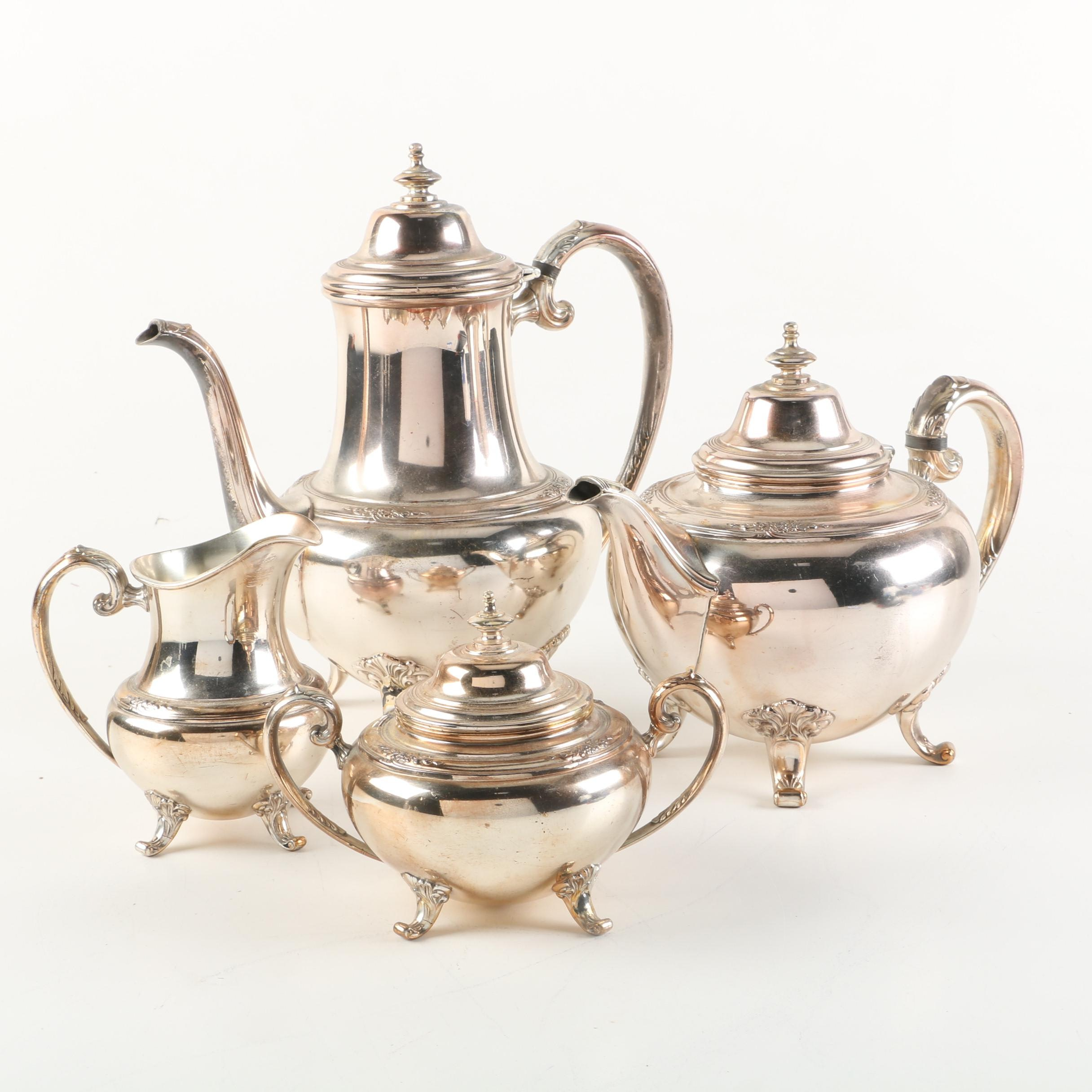 """Holmes & Edwards """"Youth"""" Silver Plate Tea and Coffee Service Set"""
