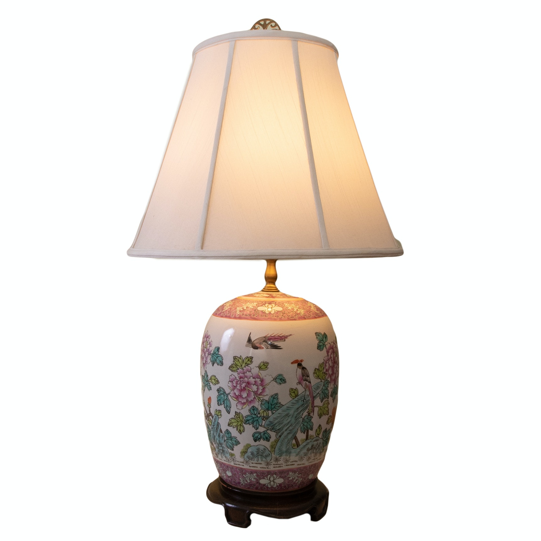 Chinese Ceramic Table Lamp by Monter Lite