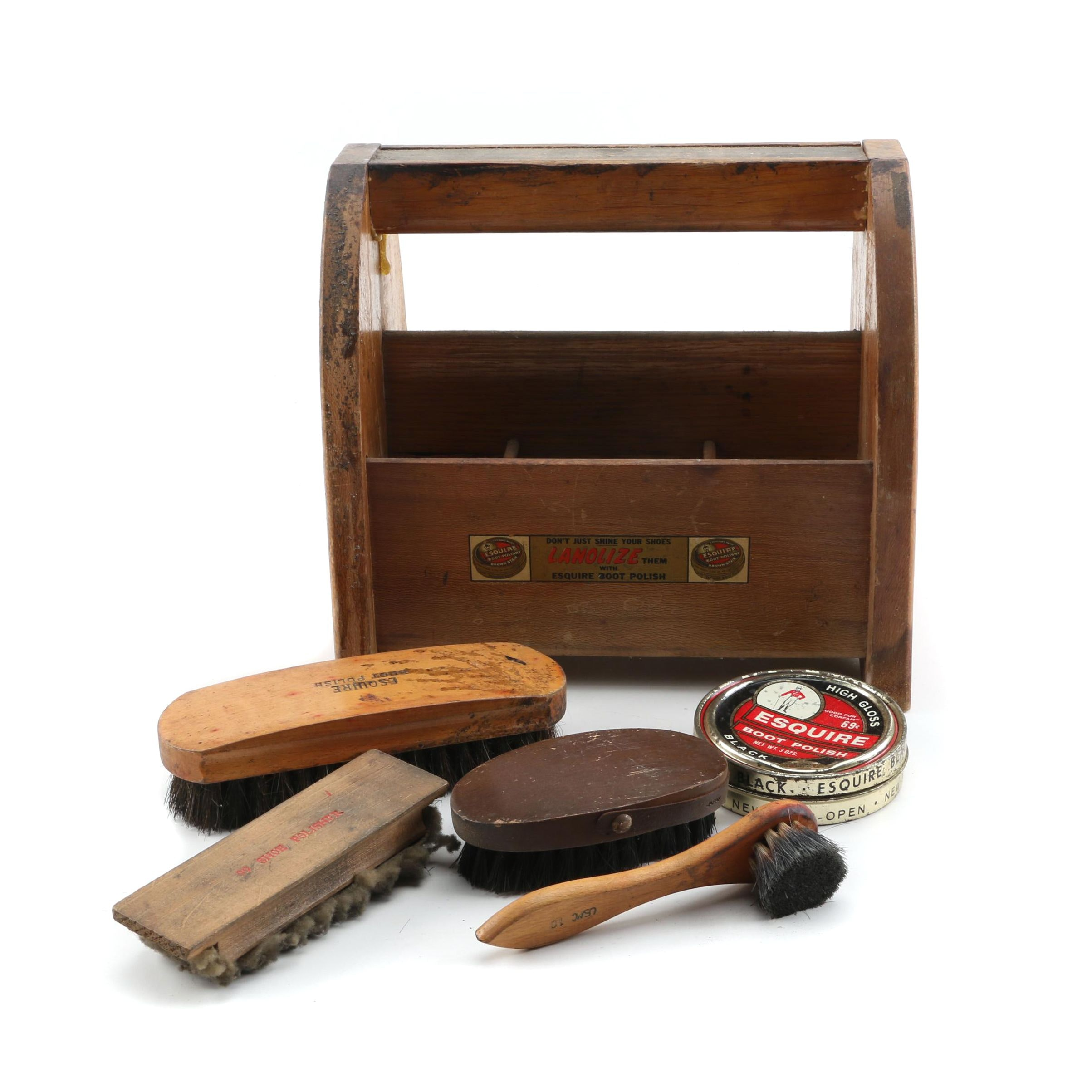 Vintage Esquire Boot Polish Shoe Shine Kit