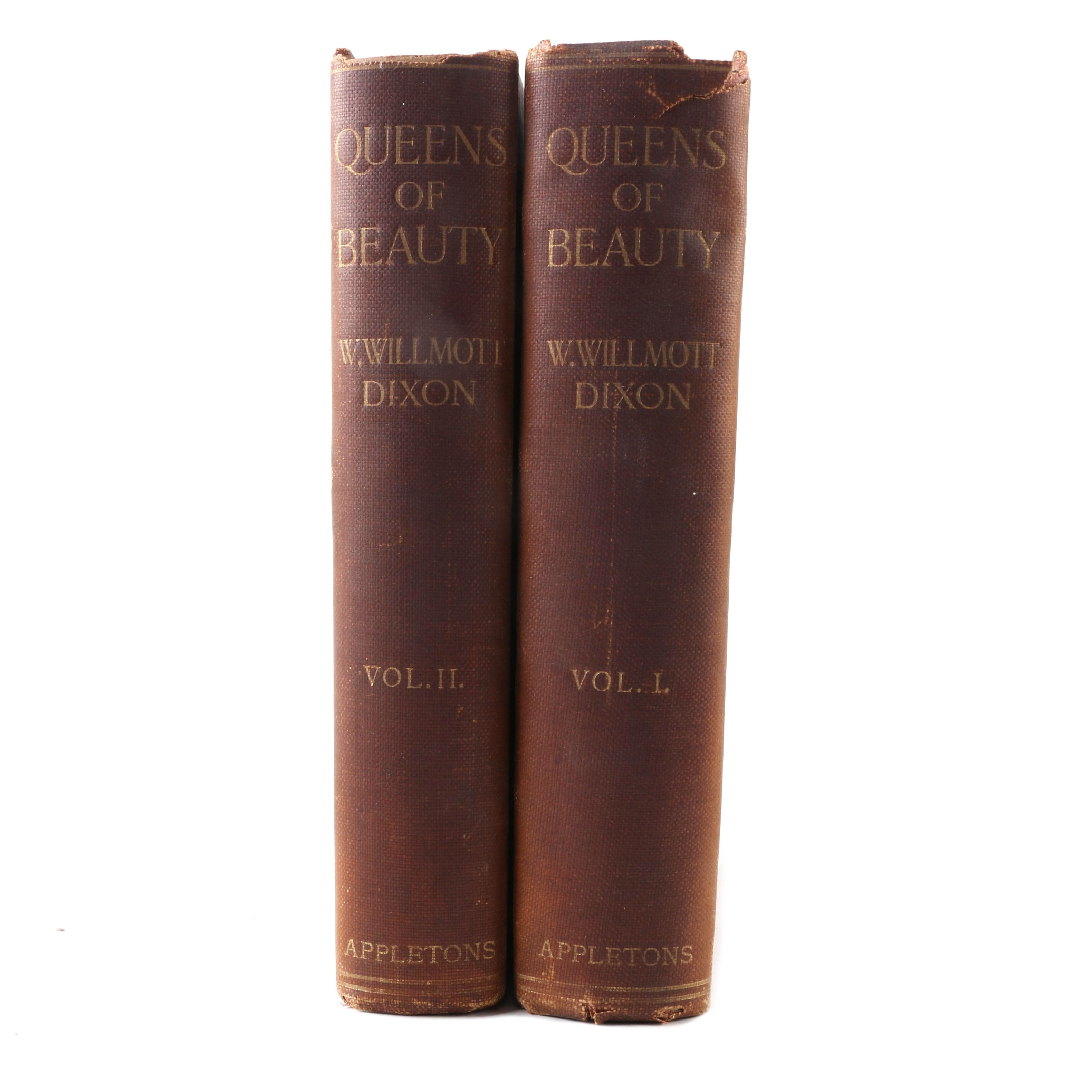 "1907 ""Queens of Beauty"" Two Volume Set by W. Willmott Dixon"