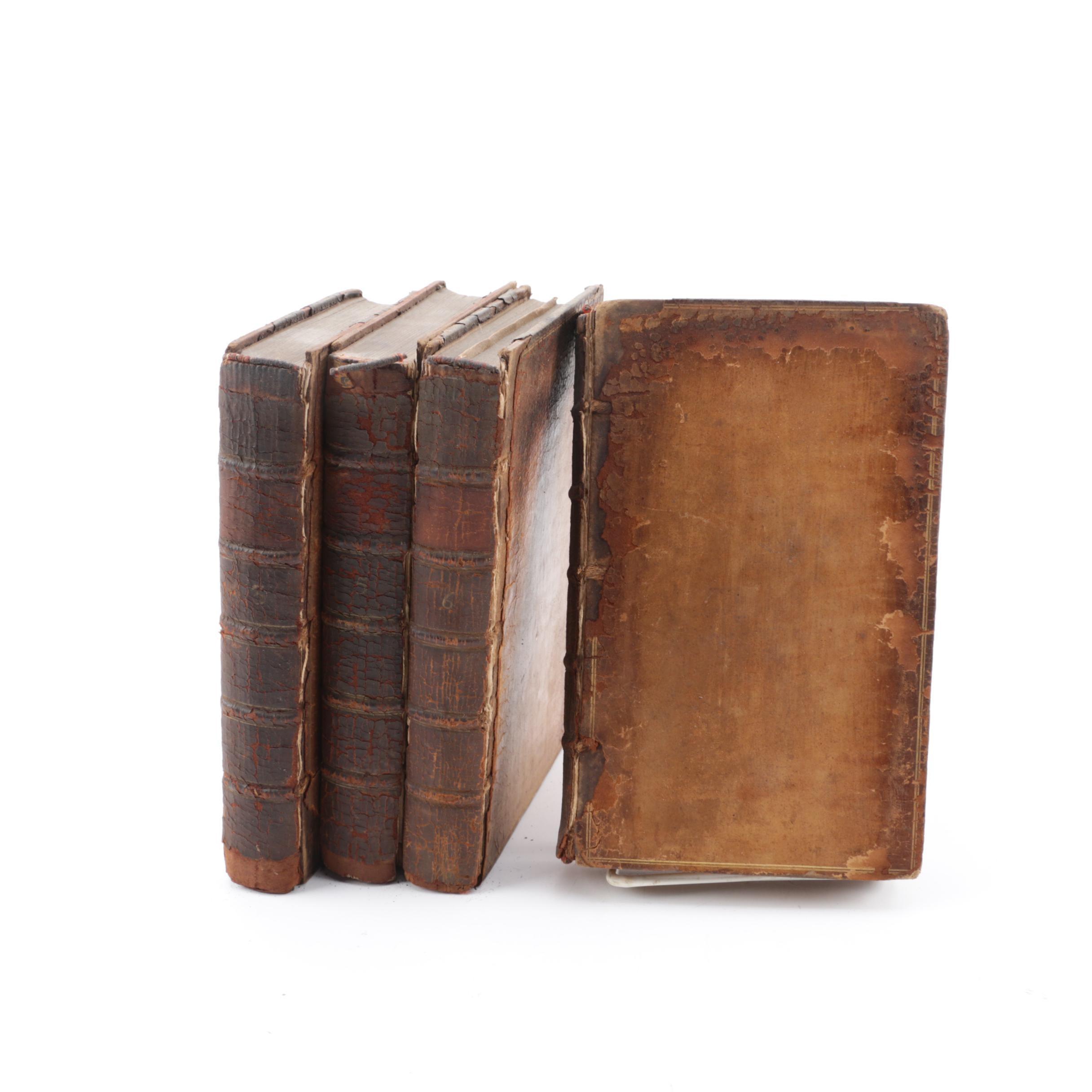 "1763 ""Memoirs of Maximilian de Bethune, Duke of Sully"" Four Volumes"