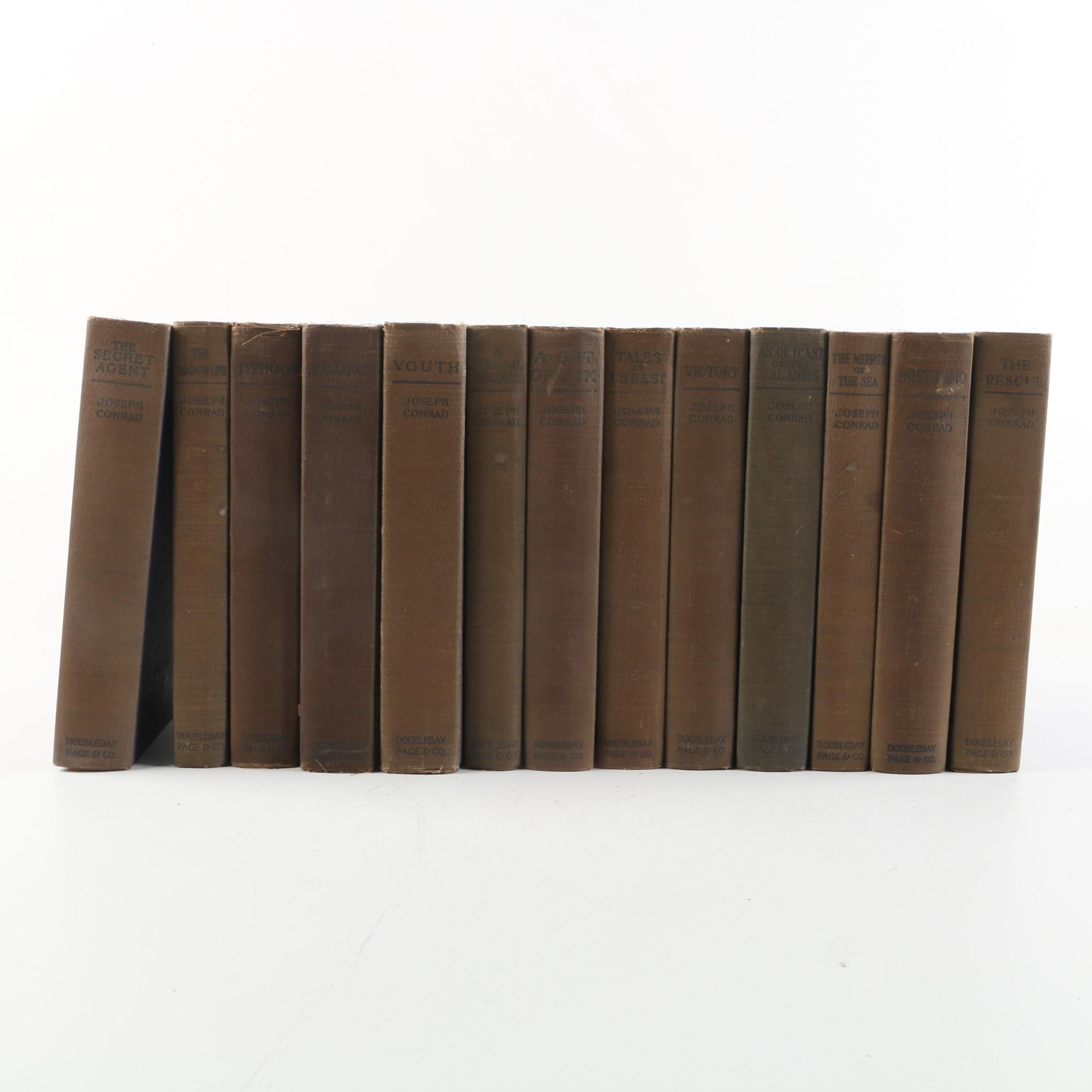 1920s Thirteen Volume Set of Joseph Conrad's Works