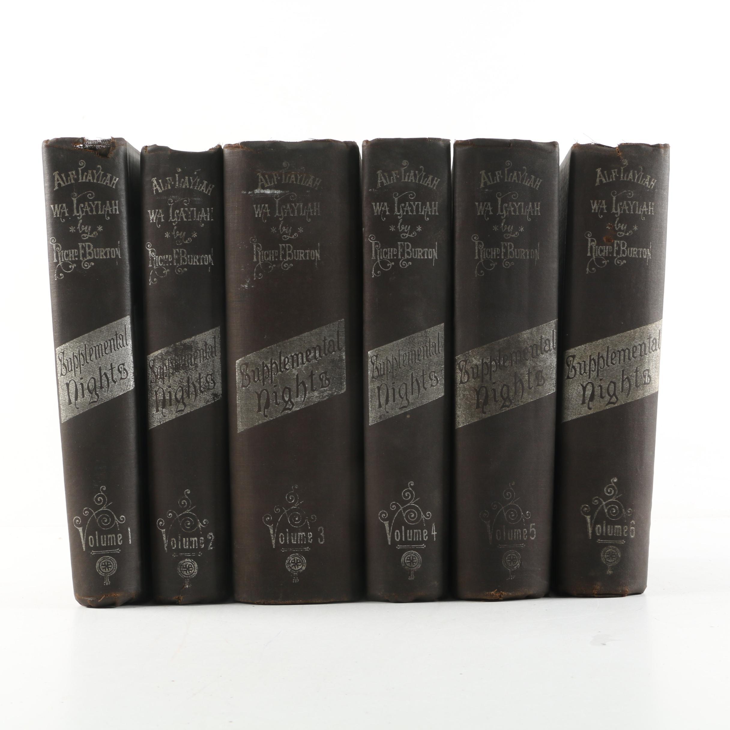 "1886-8 Limited ""Supplemental Nights"" Six Volume Set by Richard Burton"