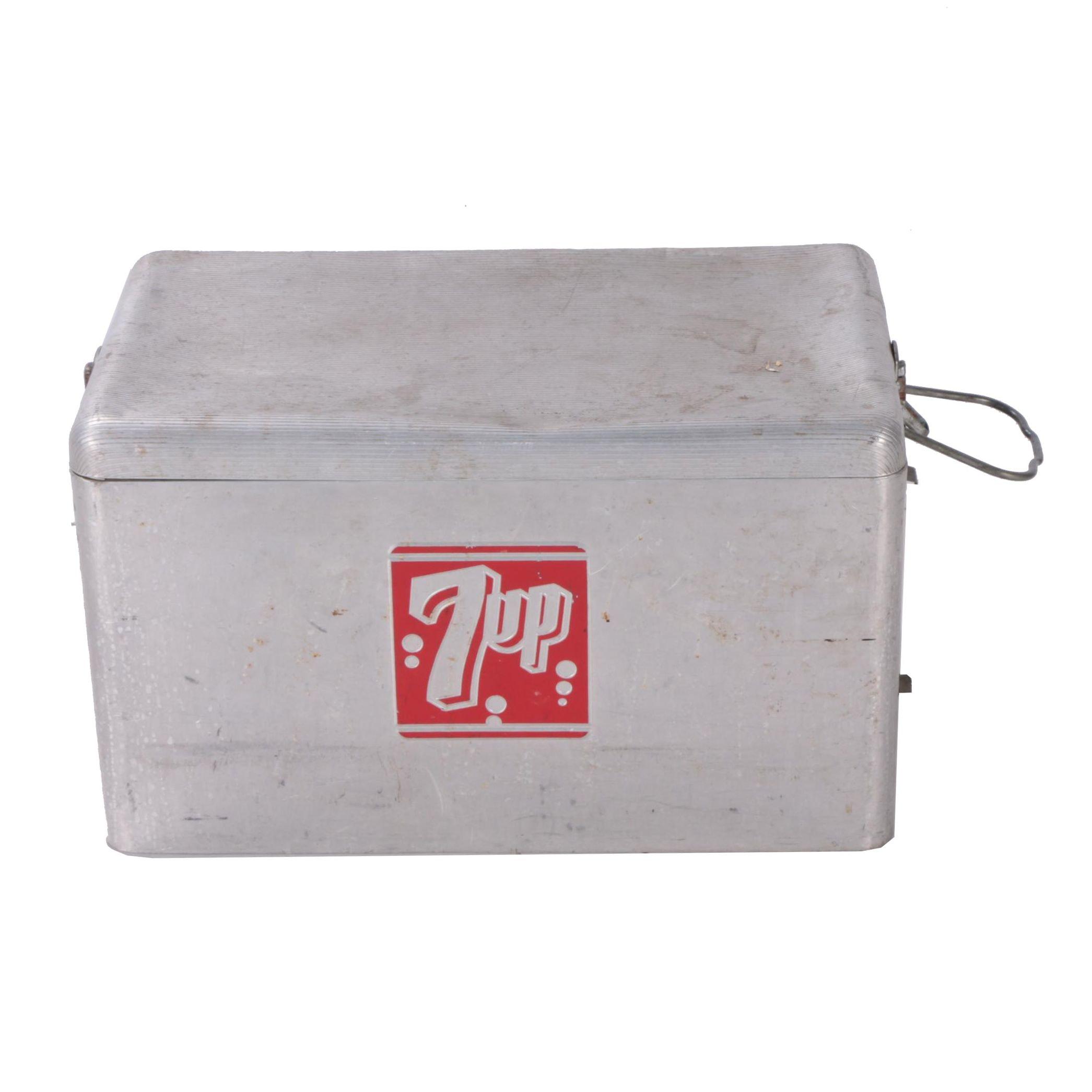 Metal 7-UP Cooler