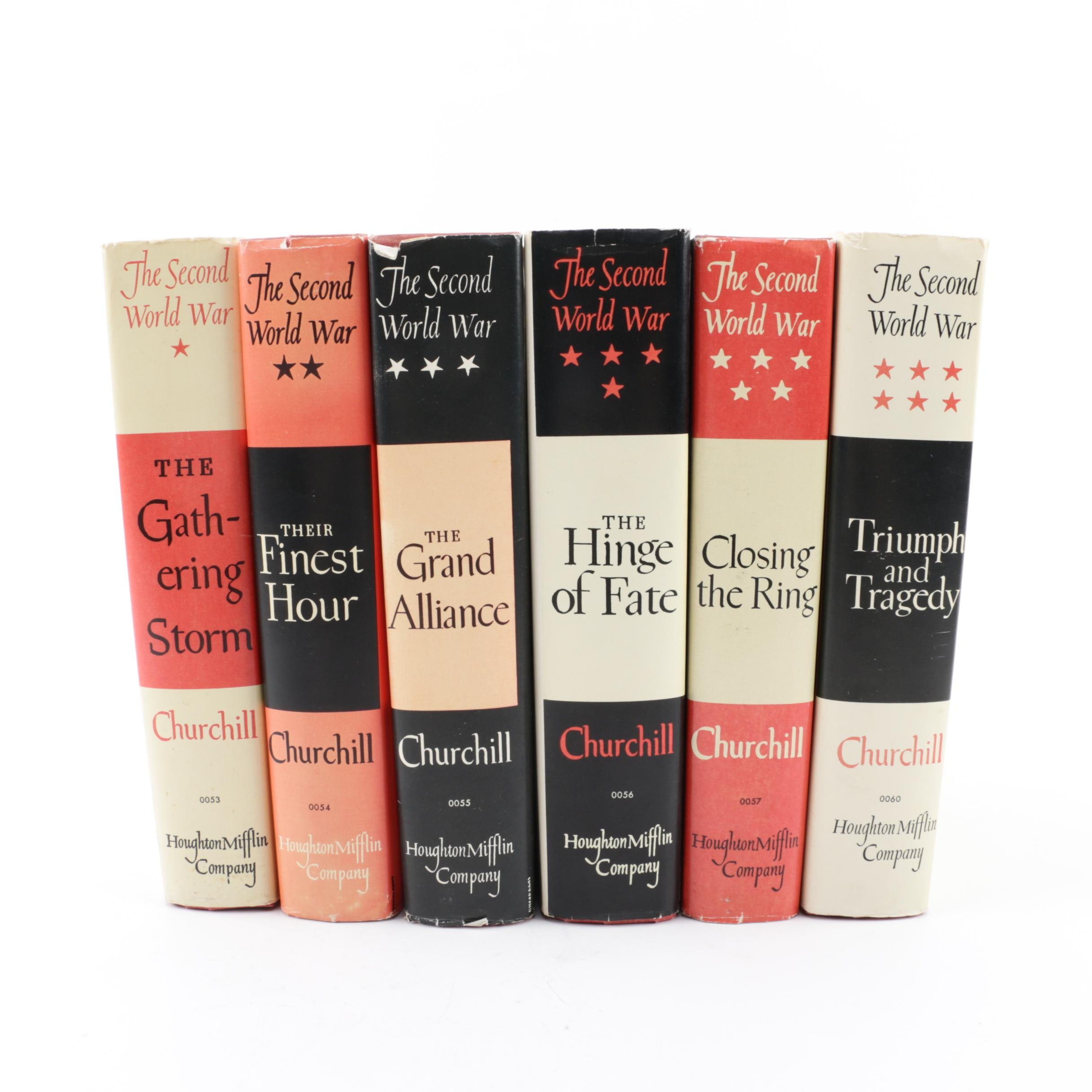 "Winston Churchill's Six-Volume ""The Second World War"" First Book Club Editions"