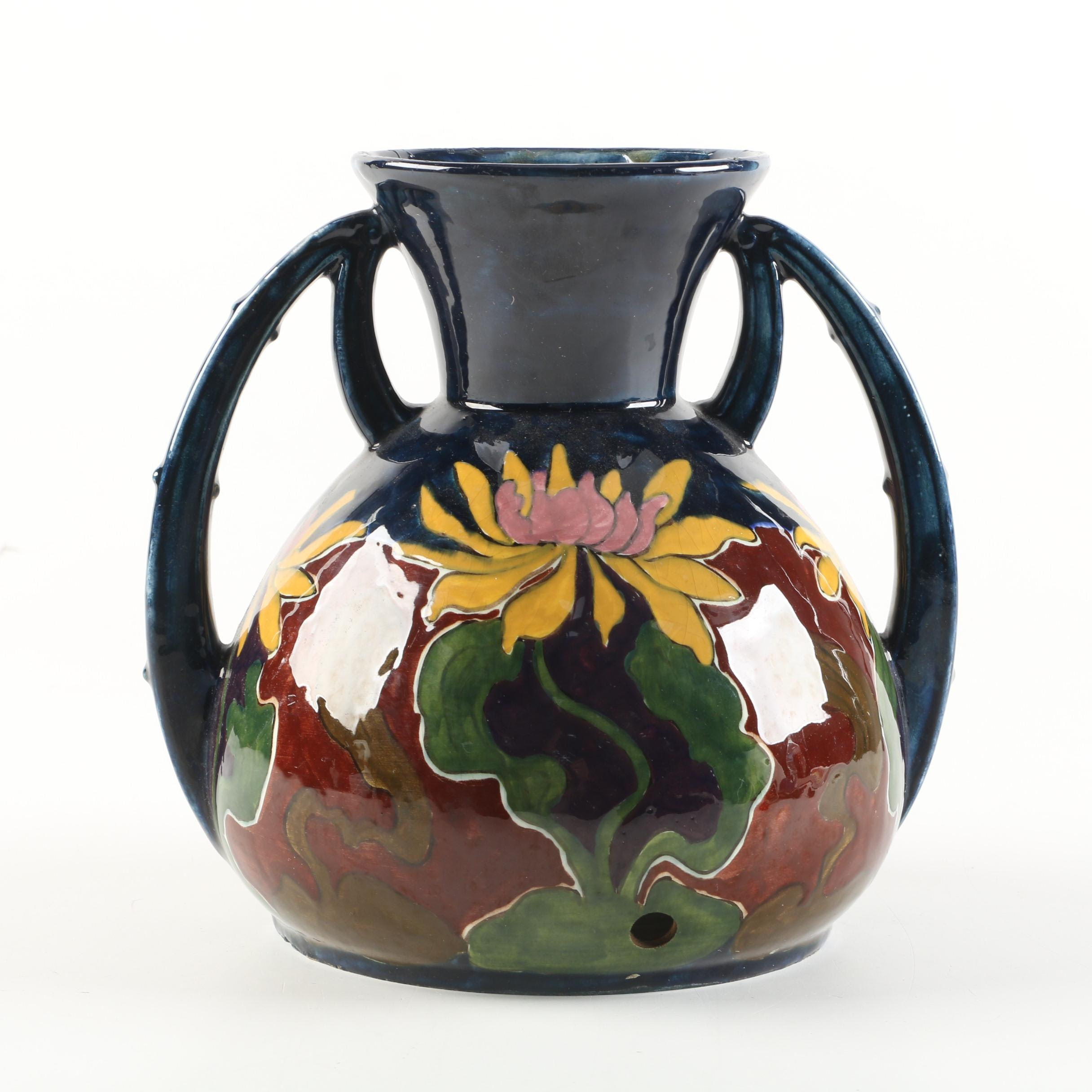 Old Moravian Pottery Austrian Arts and Crafts Vase (c.1899-1918)