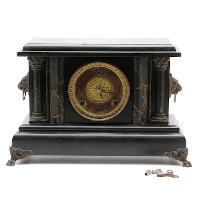 "American ""Bonanza"" Mantel Clock by Wm L. Gilbert Clock Co., Winsted, Conn"