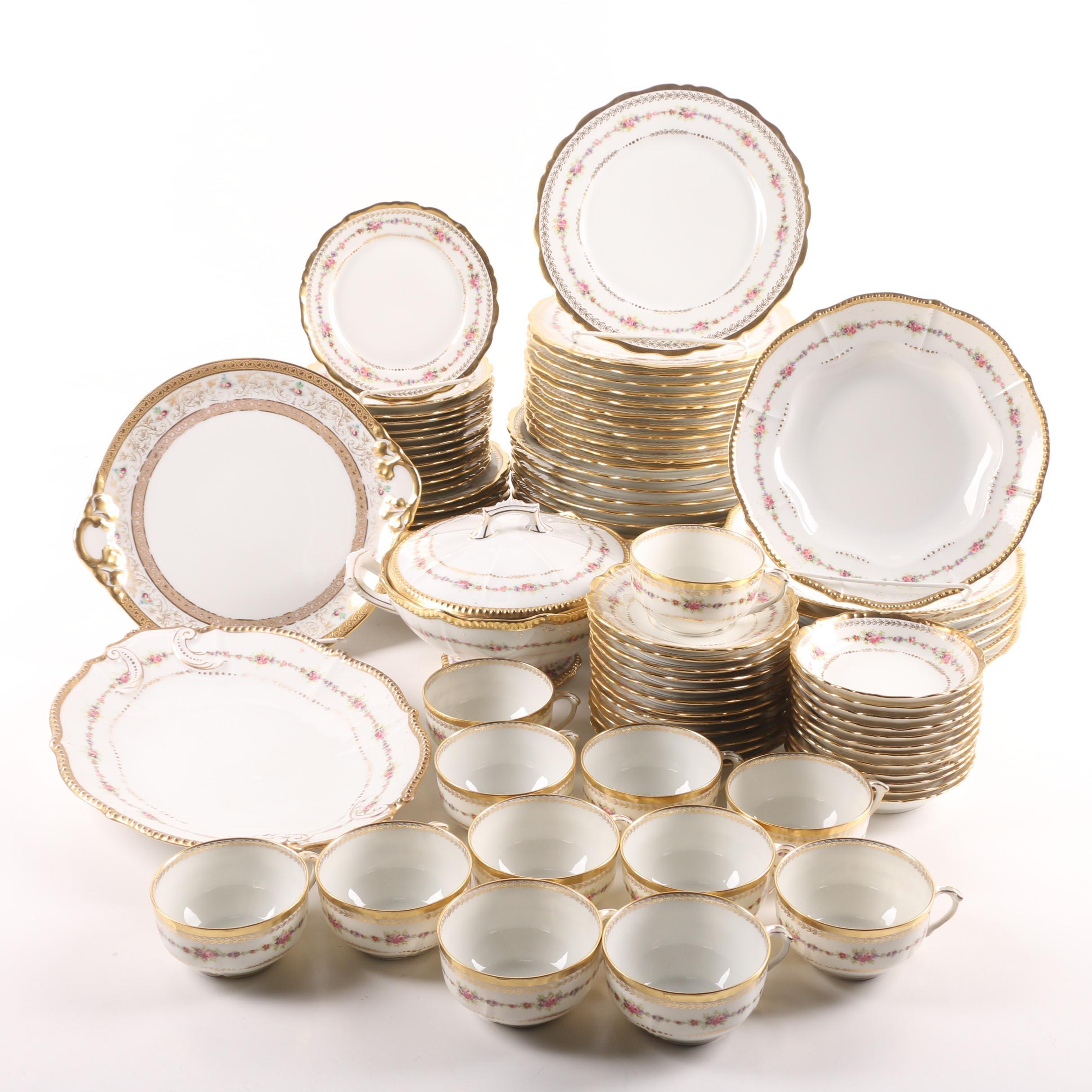 Bawo Dotter Elite Limoges Porcelain Dinnerware c. 1896-1932