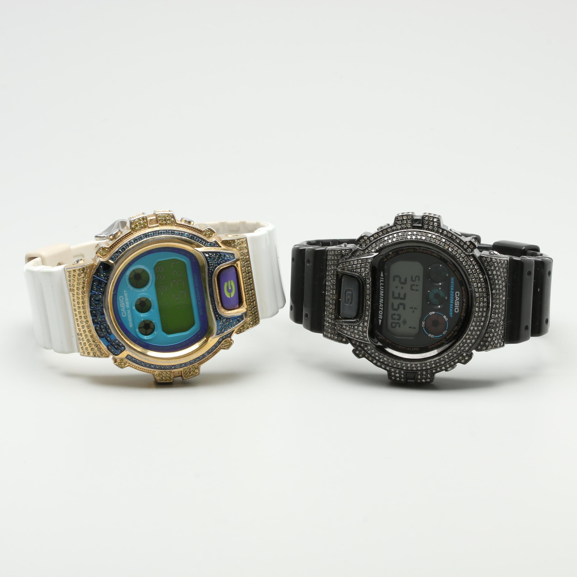 Casio G-Shock Wristwatches Including 1.09 CTW Diamonds