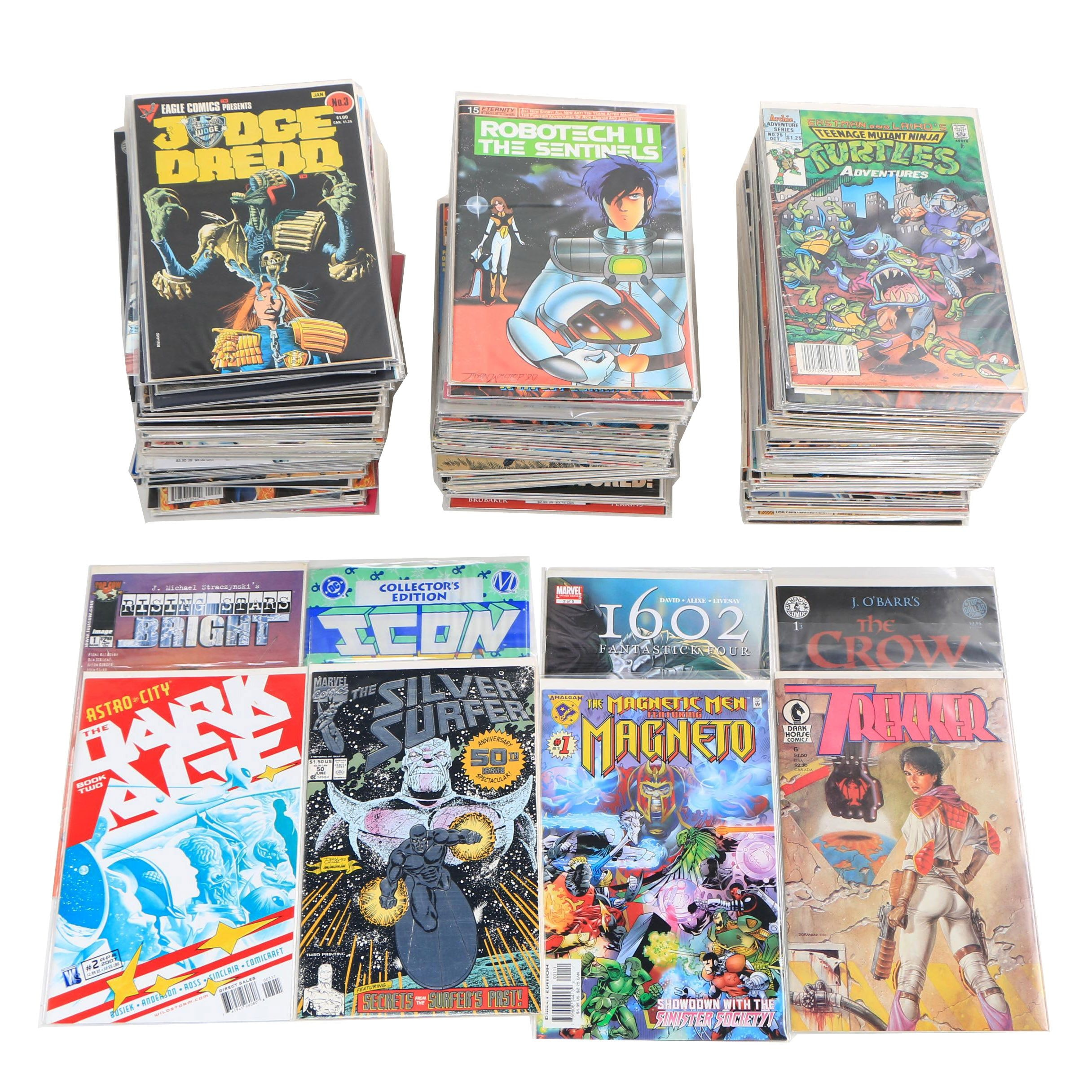"Modern Age Comic Books including ""Judge Dredd"" and ""The Silver Surfer"""
