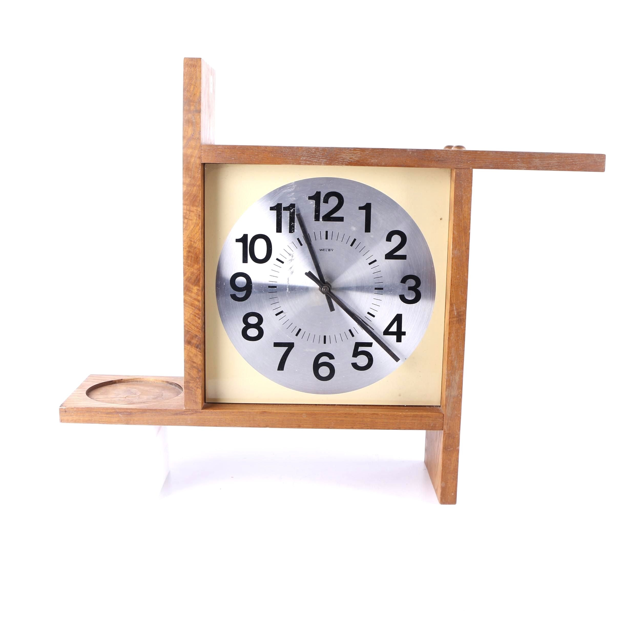 Mid Century Welby Square Wall Clock