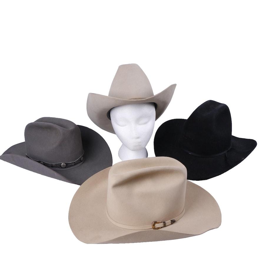 e40e32b3069b8 Men s Vintage Resistol and Stetson Felt Cowboy Hats   EBTH