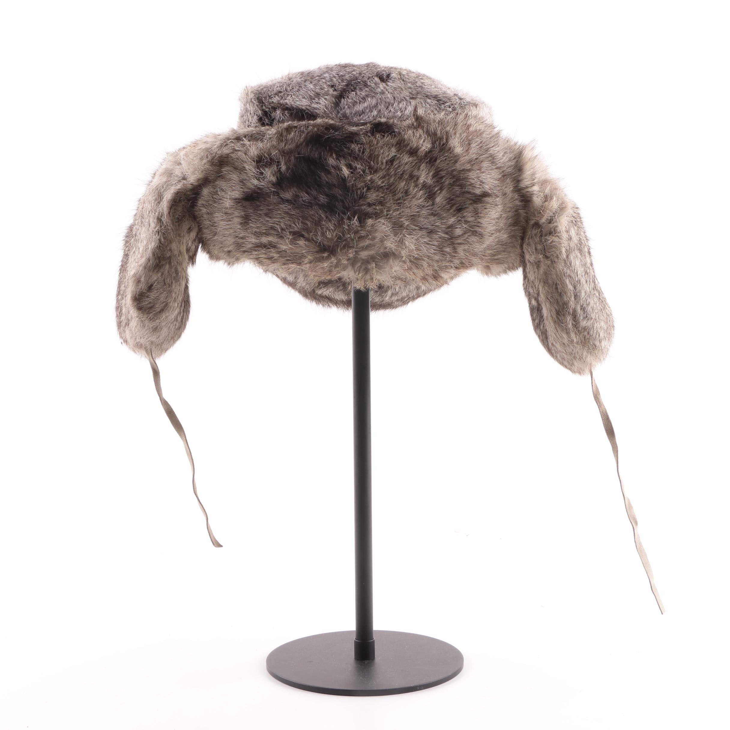 Men's Vintage Chinese Raccoon Fur Trapper Hat