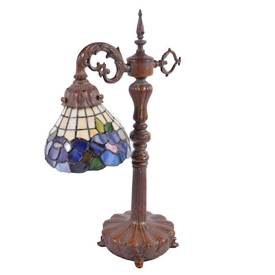 Art Nouveau Style Stained Glass Task Lamp