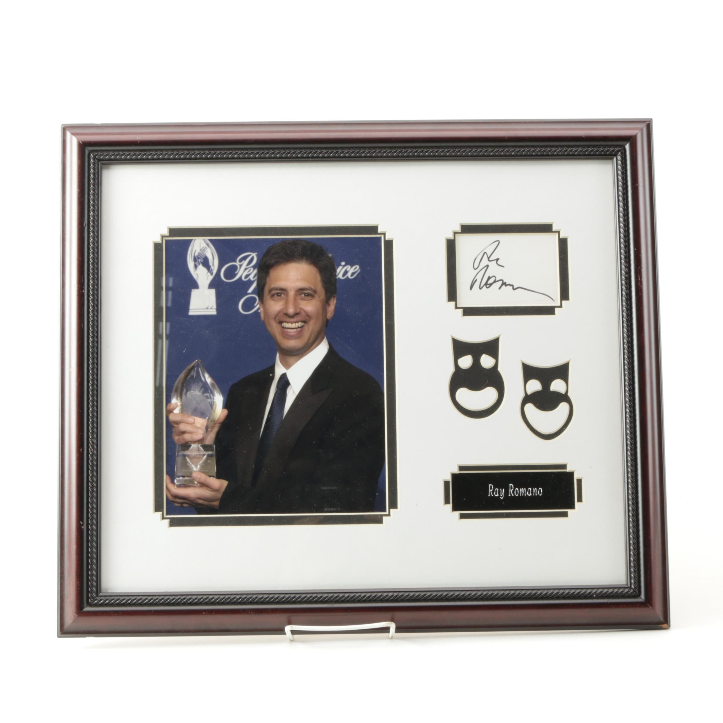 Ray Romano Framed Autograph and Photograph