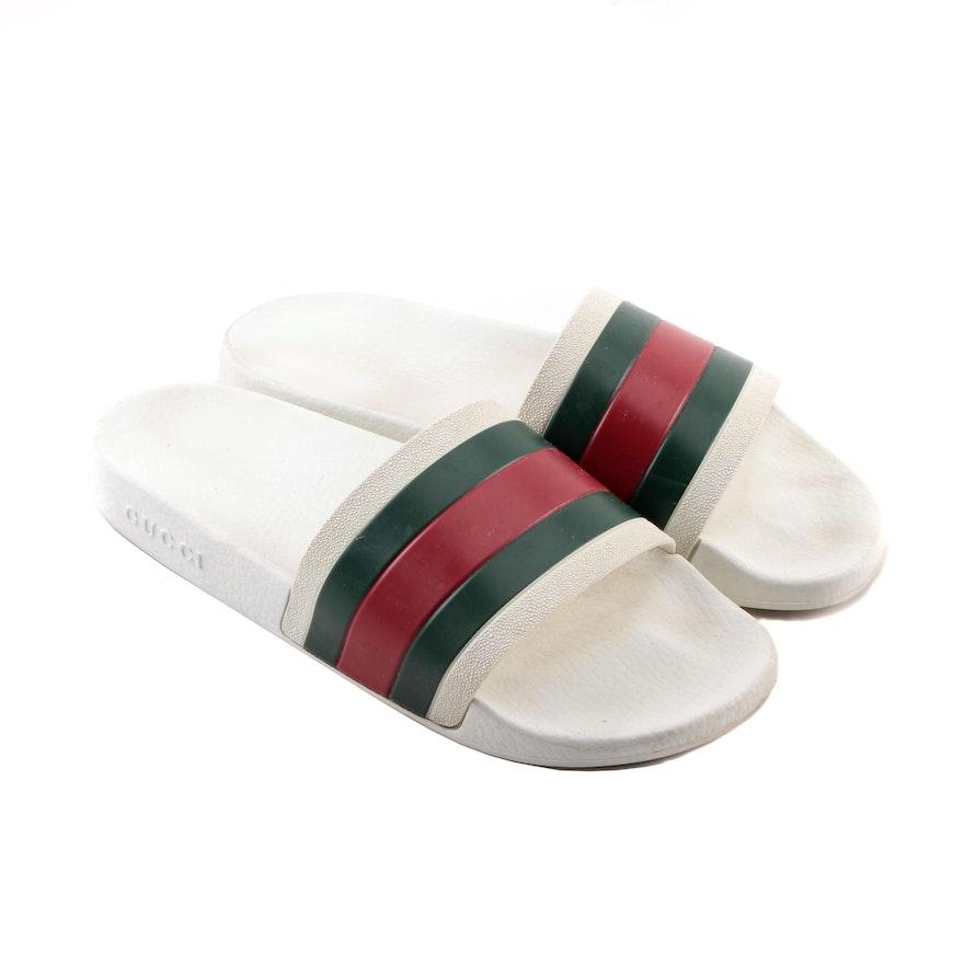 0e415471d50a Men s Gucci Pursuit  72 Rubber Slide Sandals   EBTH