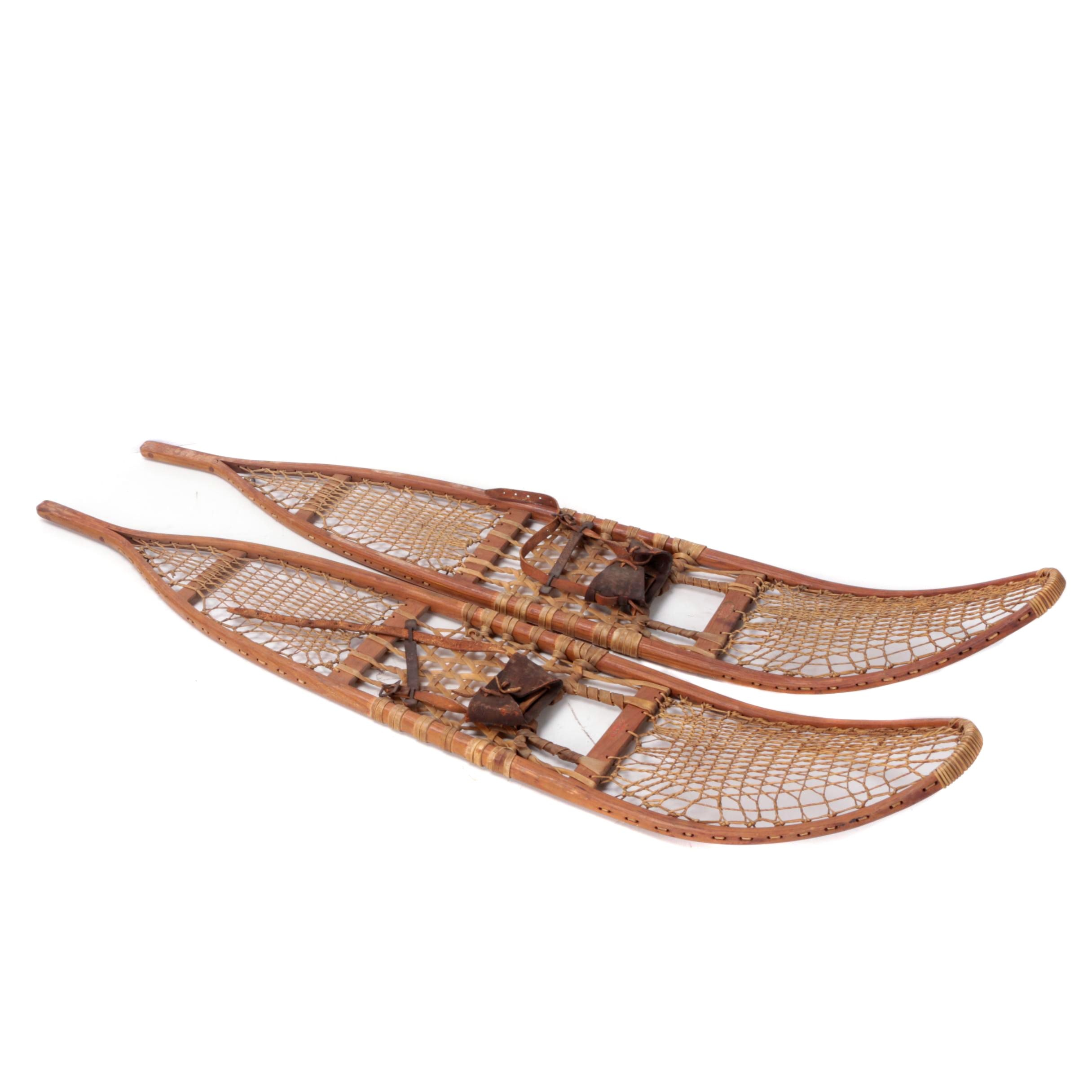 Lund Wooden and Rawhide Military Snowshoes