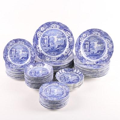 """Spode Porcelain Dinnerware in the """"Blue Italian"""" Pattern"""