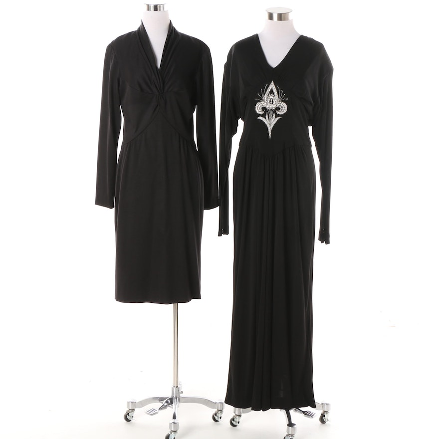 Bob Mackie Black Evening Dresses Featuring a Dress with Bead ...