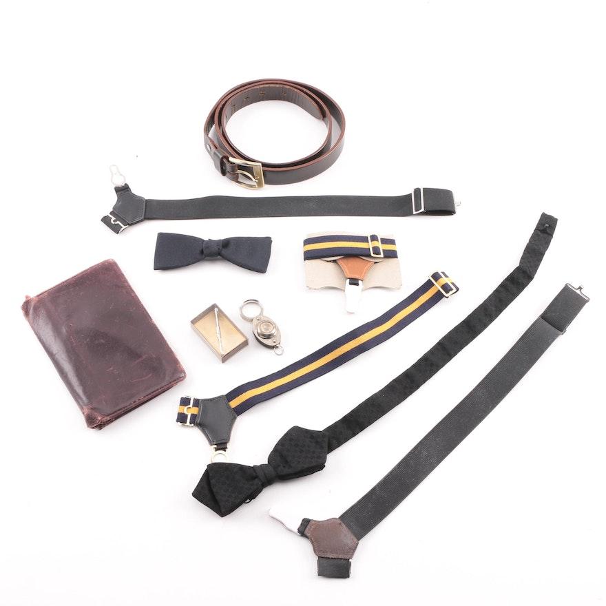 88b78d98e229d2 Men's Vintage Compass Loop, Wallet, Bow Ties, Suspenders and Belt : EBTH