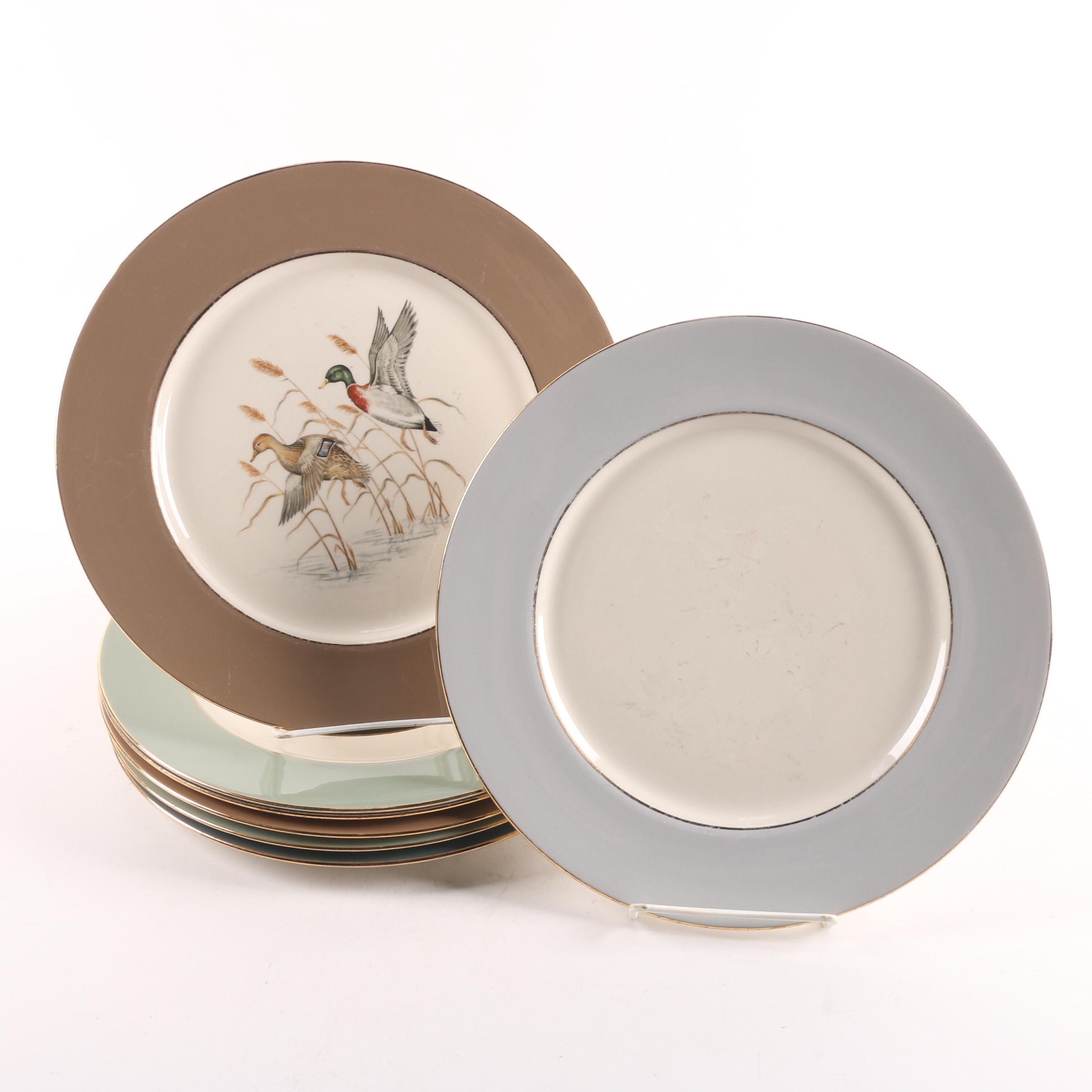 Vintage Eliot Game Bird Themed Porcelain Plates