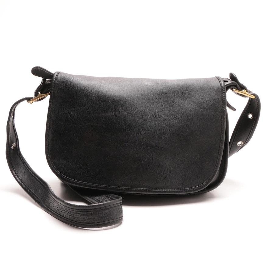 521fe9b402cb Vintage Coach Patricia s Legacy Black Leather Handbag   EBTH