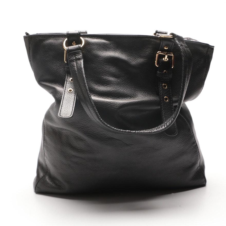 ae78b2a16ee1 MICHAEL Michael Kors Black Leather Tote Bag : EBTH