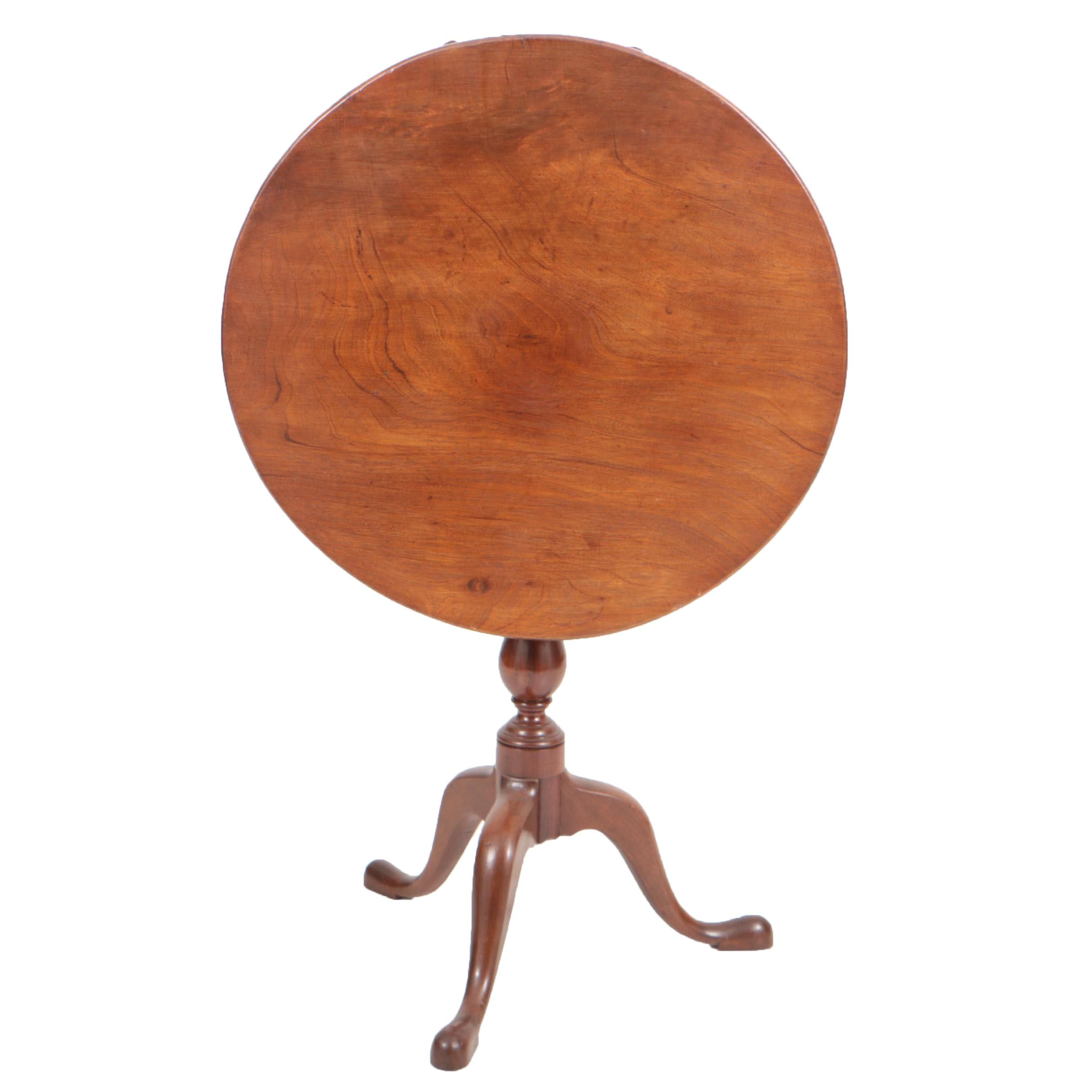 George III Mahogany Tilt-Top Tripod Table, Late 18th Century
