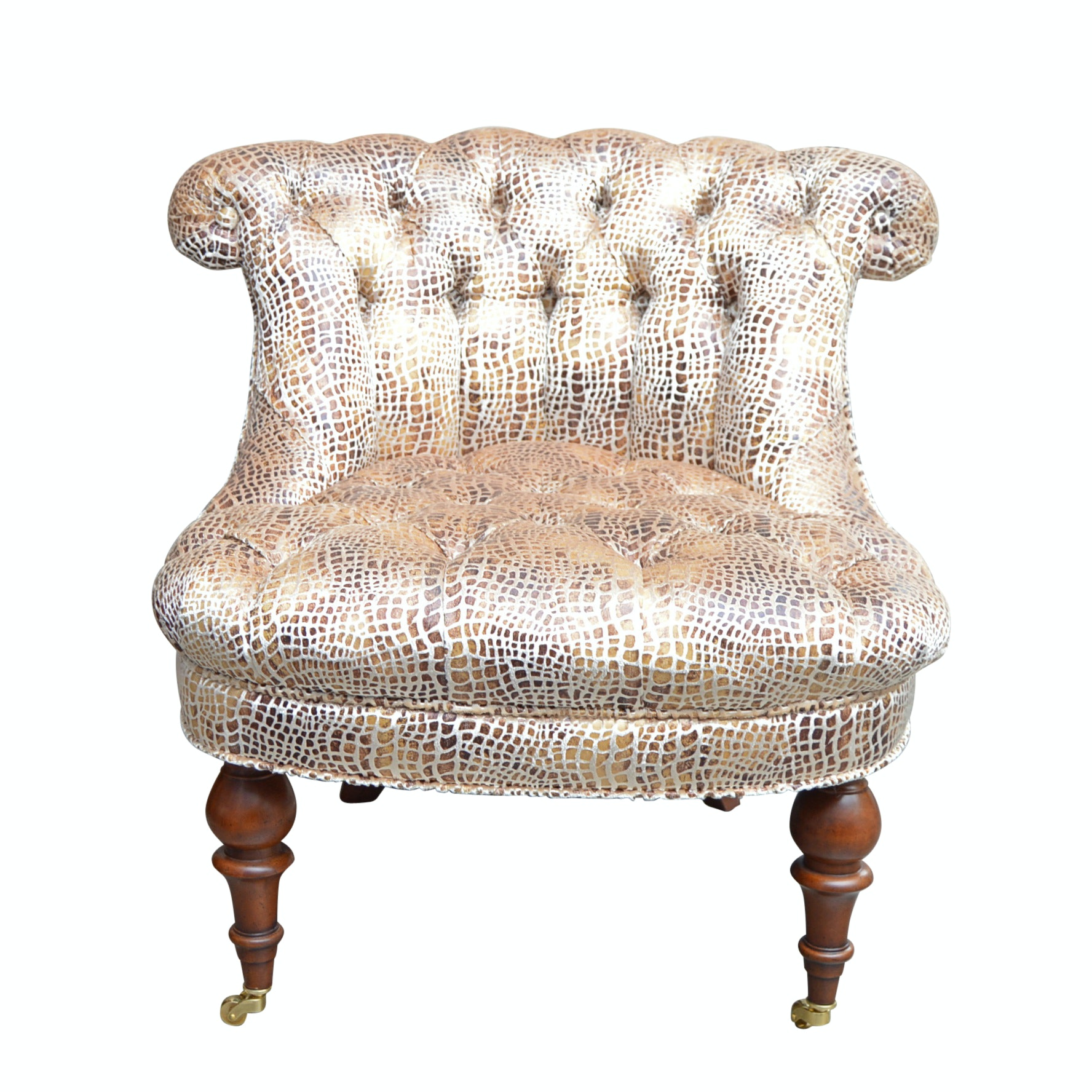 Neoclassical Style Slipper Chair by Baker Furniture
