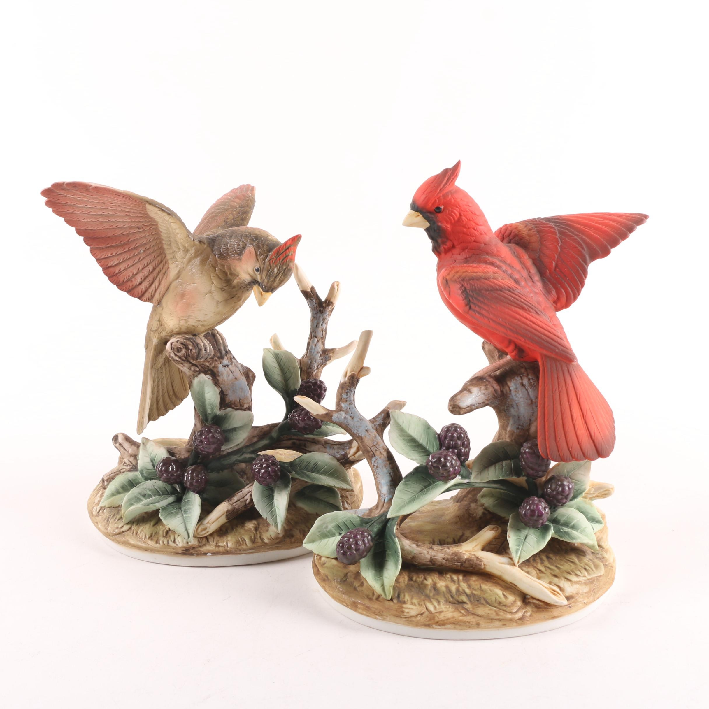 Andrea by Sadek Porcelain Male and Female Cardinal Figurines